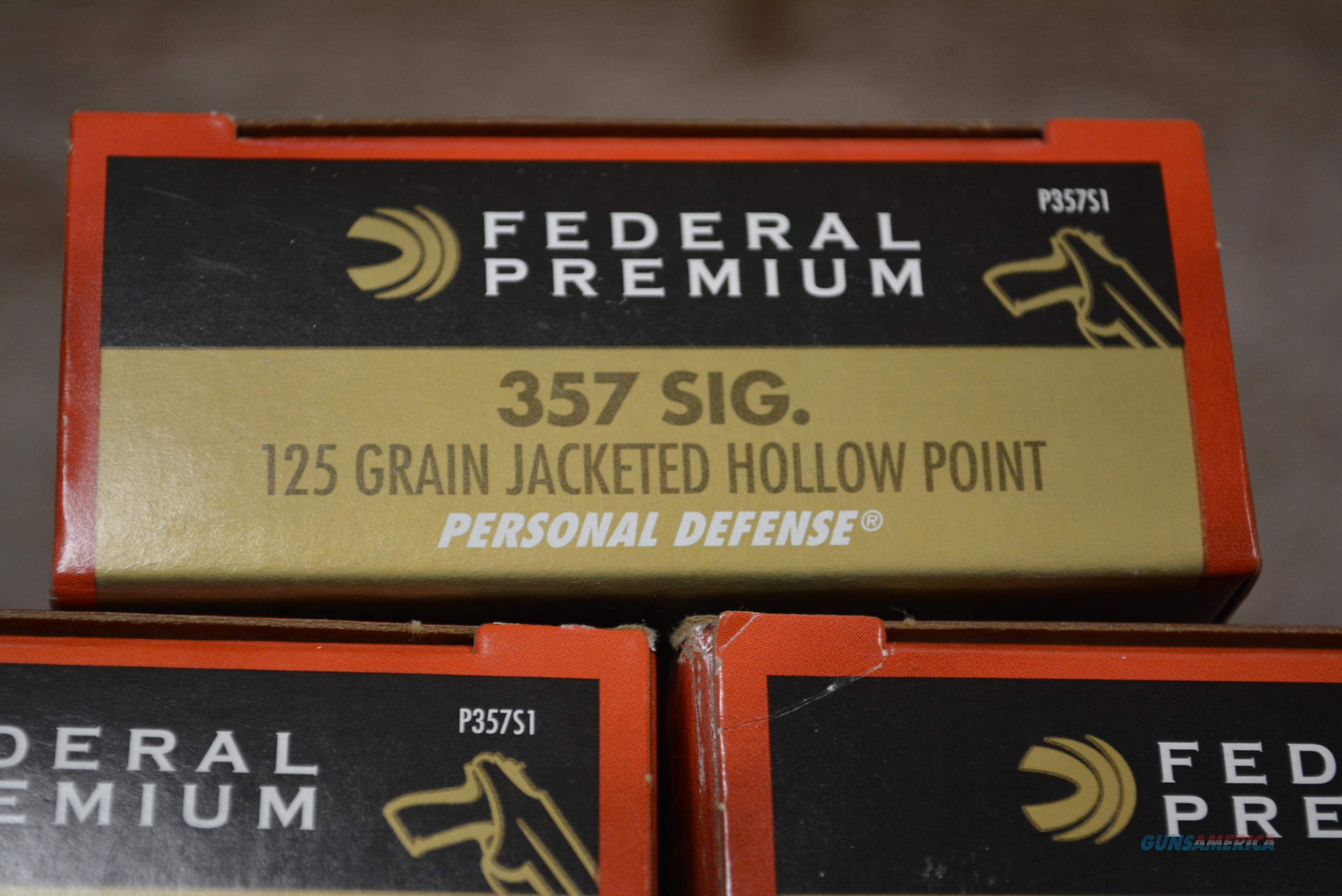 Federal Premium 357 Sig 125 Gr. Personal Defense 250 rds P357S1  Non-Guns > Ammunition