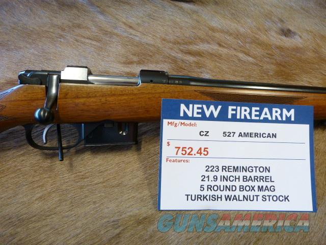 CZ 527 American 223 Rem - NEW - Walnut Stock  Guns > Rifles > CZ Rifles