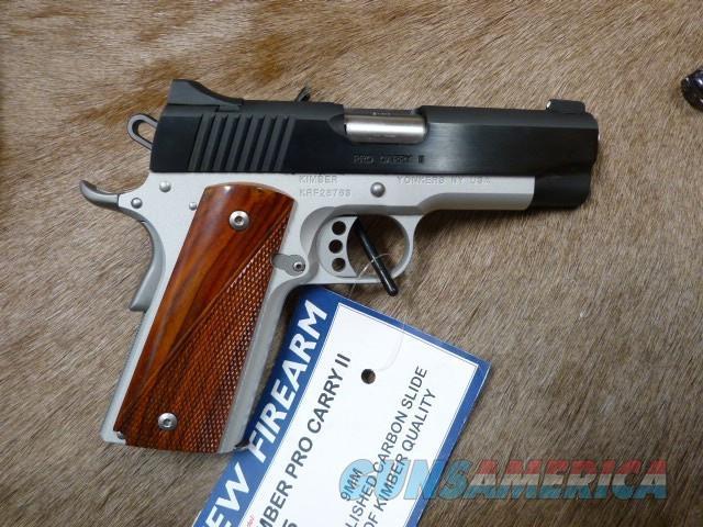 Kimber Pro Carry II 9mm NEW  Guns > Pistols > Kimber of America Pistols > 1911