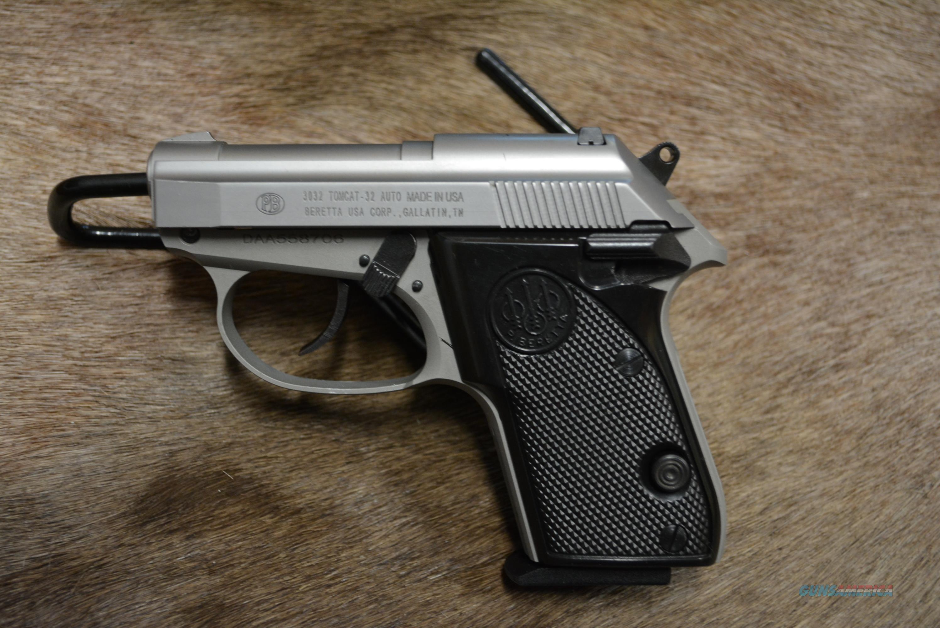 Beretta Tomcat 3032 Inox 32 ACP NEW - MAKE US AN OFFER  Guns > Pistols > Beretta Pistols > Small Caliber Tip Out
