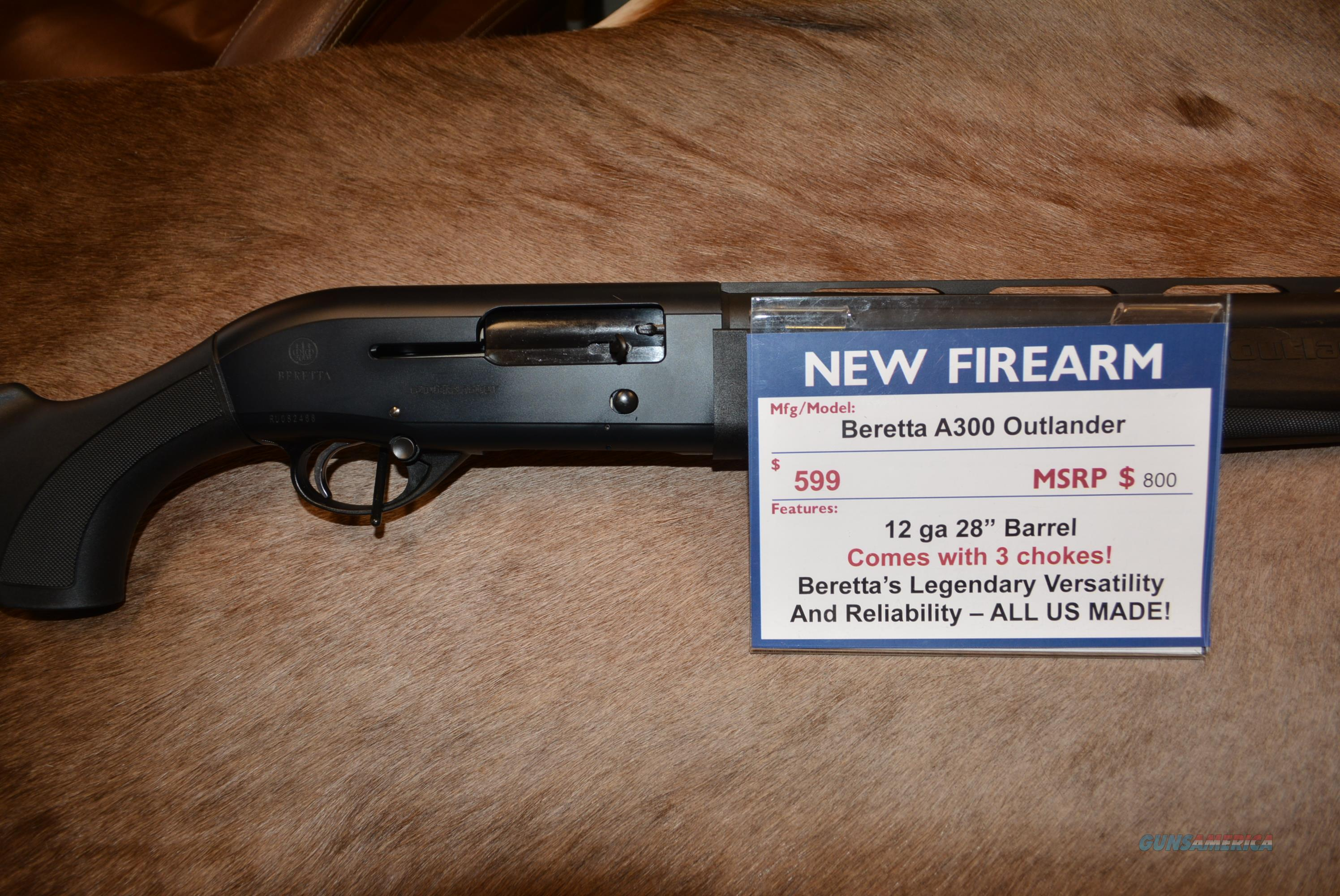 Beretta A300 Outlander NEW  Guns > Shotguns > Beretta Shotguns > Autoloaders > Hunting