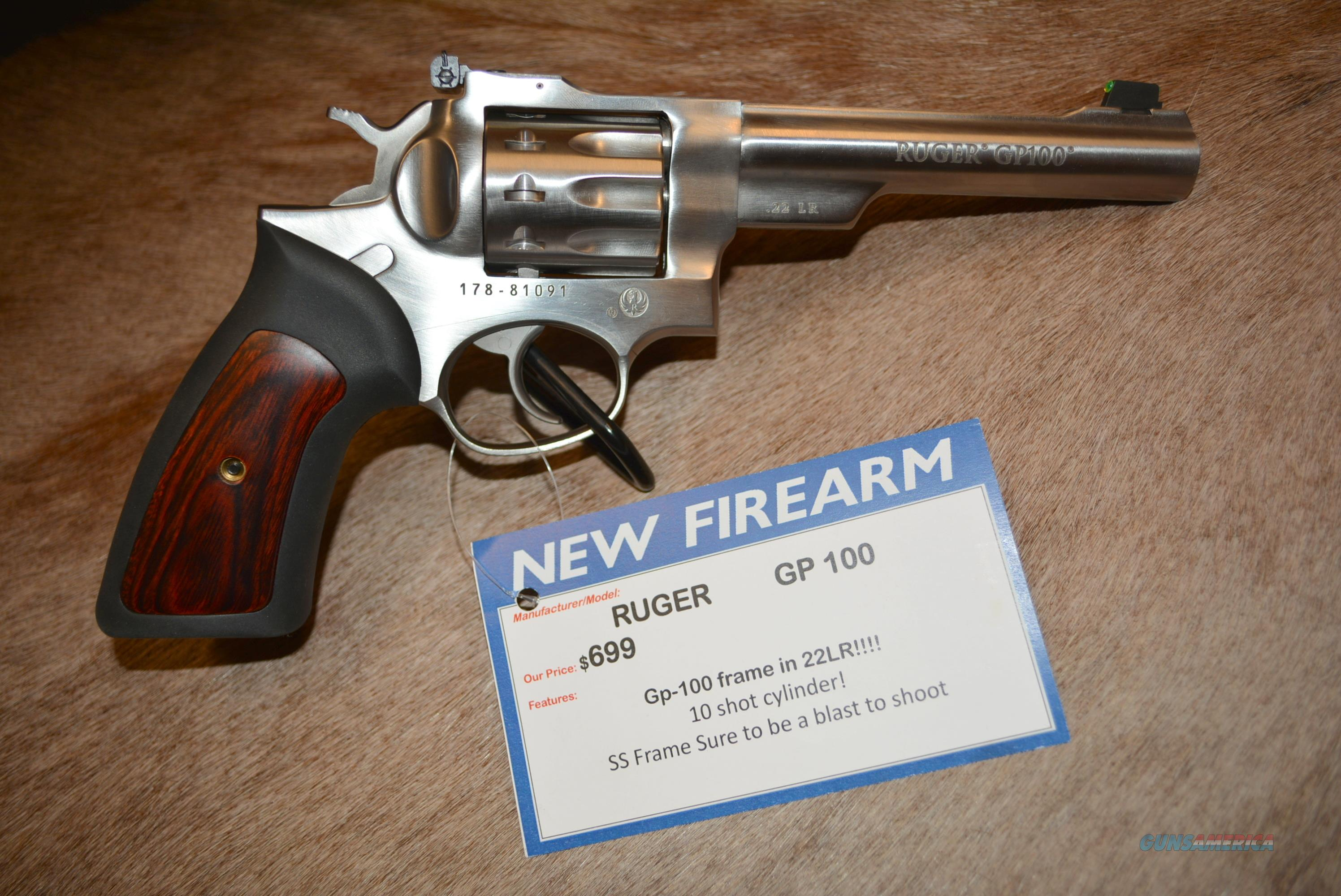 Ruger GP-100 22LR NEW & FREE Shipping!  Guns > Pistols > Ruger Double Action Revolver > GP100