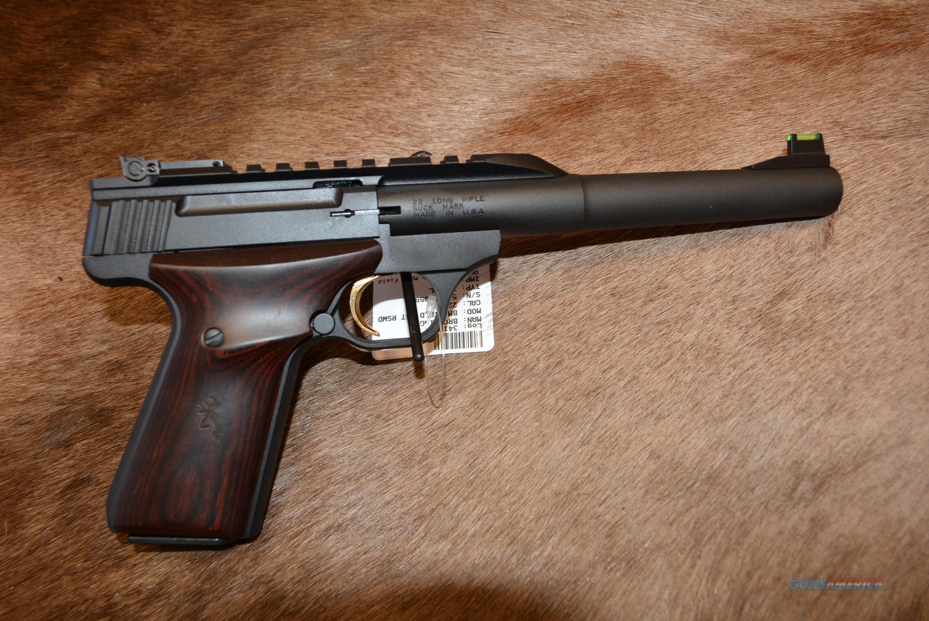 Browning Buckmark Field Target W/Rosewood  Guns > Pistols > Browning Pistols > Buckmark