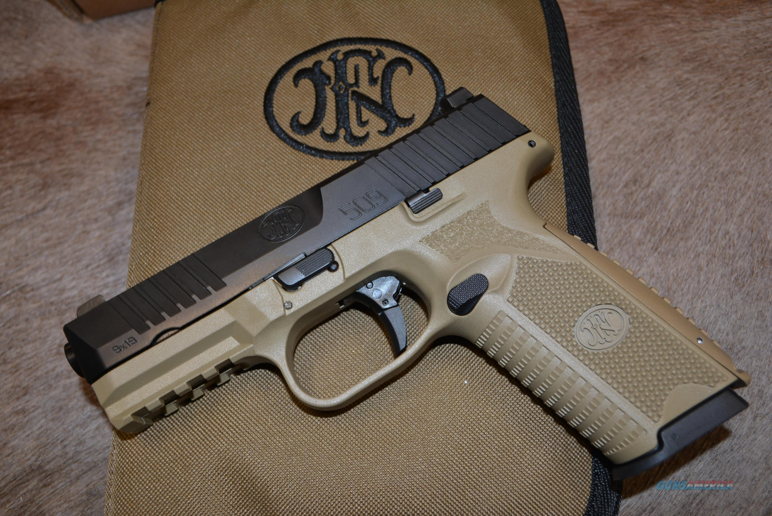 FN 509 - FDE & Black - NEW - FREE Shipping!  Guns > Pistols > FNH - Fabrique Nationale (FN) Pistols > FN 509