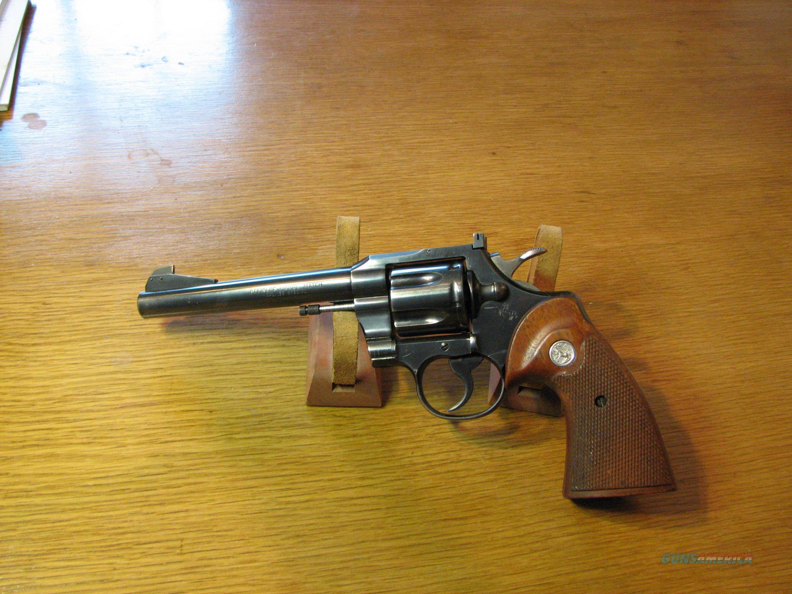Officers Model Match  Guns > Pistols > Colt Double Action Revolvers- Modern