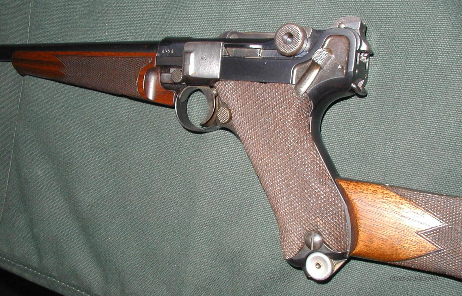 LUGER CARBINE DWM 1941  Guns > Rifles > L Misc Rifles