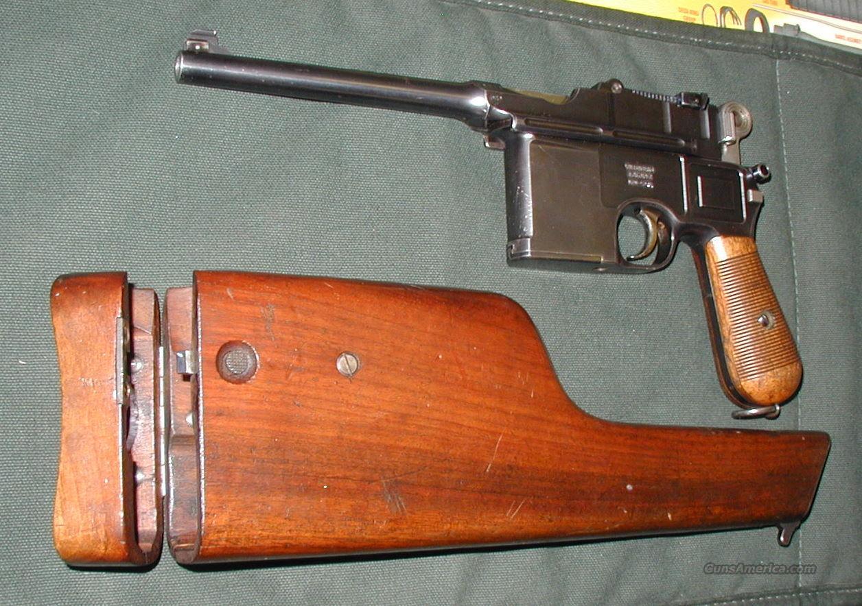 Pre-War COMMERCIAL LARGE BOLO 96  Guns > Pistols > Mauser Pistols