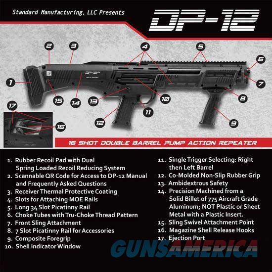 Standard Manufacturing DP-12 Shotgun 14rd Cap Blk  Guns > Shotguns > A Misc Shotguns