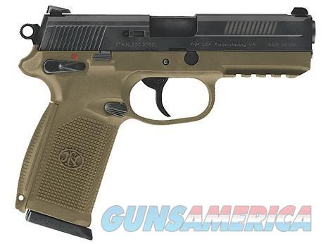 FN USA FNX-45 Flat DE Color 15+1Rds 45ACP 3-Mags  Guns > Pistols > FNH - Fabrique Nationale (FN) Pistols > FNX
