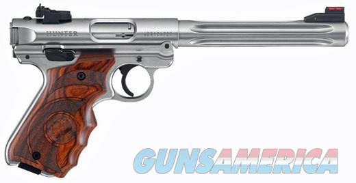 Ruger MKIV Target Hunter S\S Fiber Optic 22LR Cal  Guns > Pistols > Ruger Semi-Auto Pistols > Mark I/II/III/IV Family