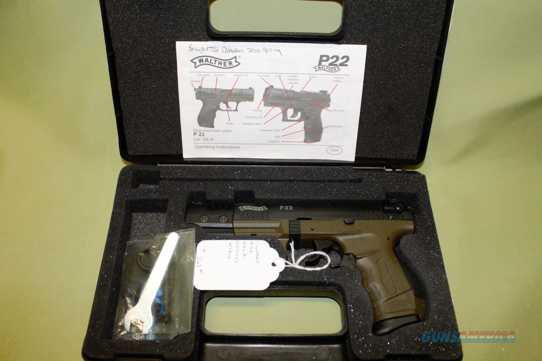 Walther P22 Target 22LR  Guns > Pistols > Walther Pistols > Post WWII > P22