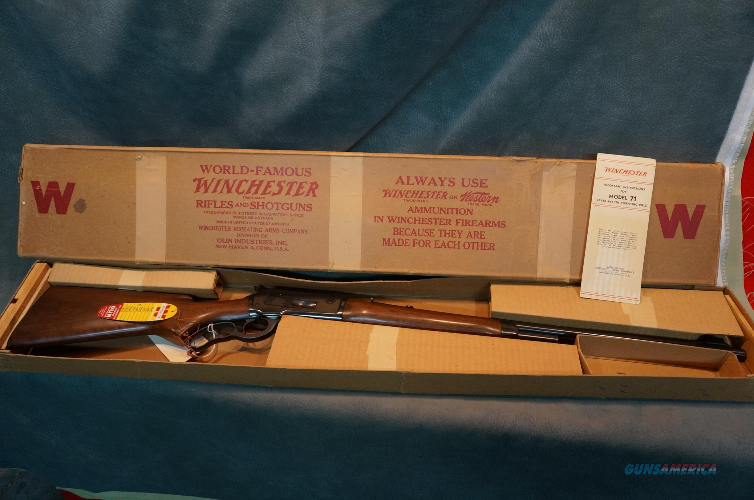 Winchester Model 71 348Win New in the box,made in 1956.WOW!  Guns > Rifles > Winchester Rifles - Modern Lever > Other Lever > Pre-64