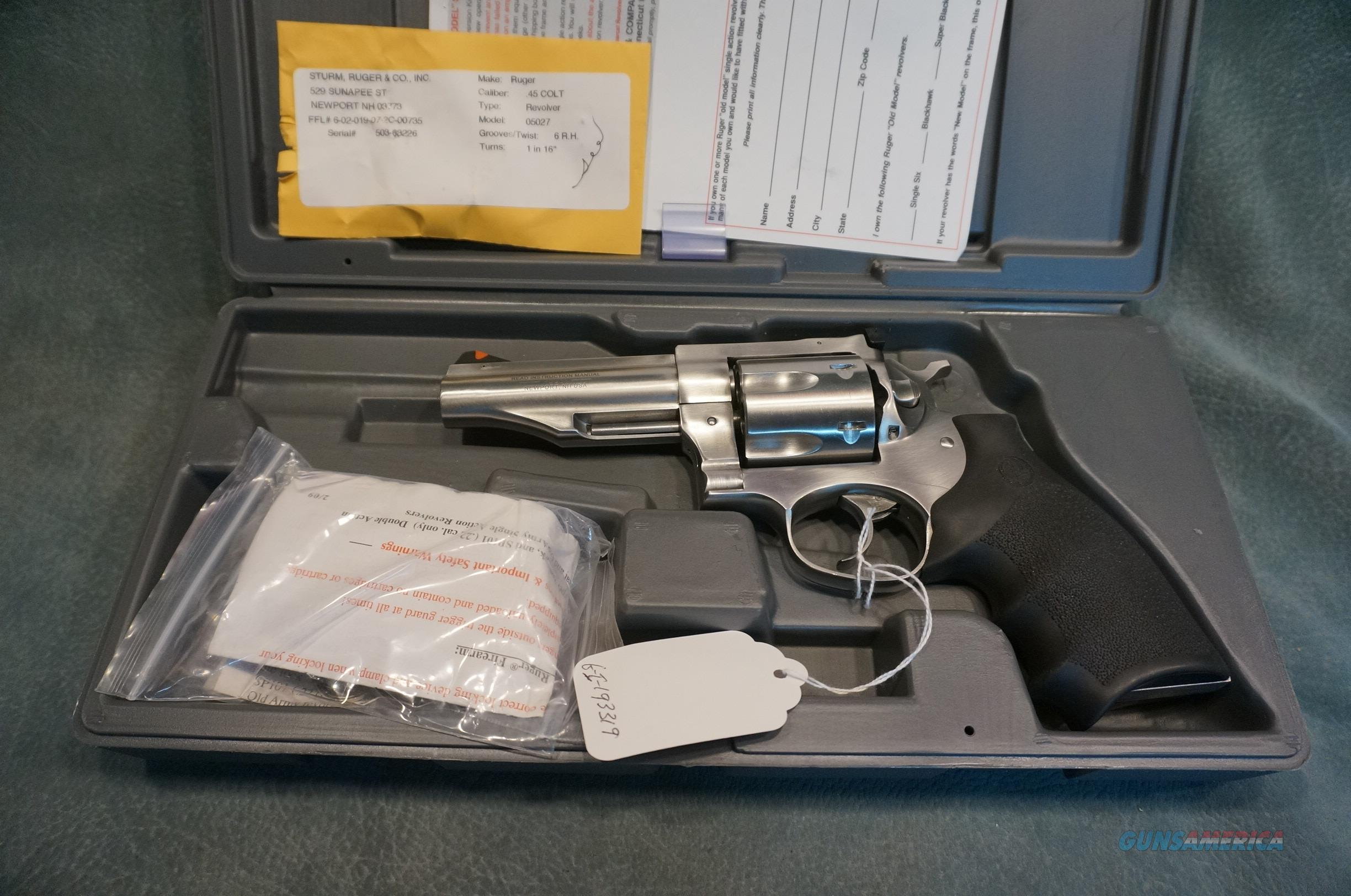 """Ruger Redhawk 45 Colt 4"""" stainless ANIB  Guns > Pistols > Ruger Double Action Revolver > Redhawk Type"""