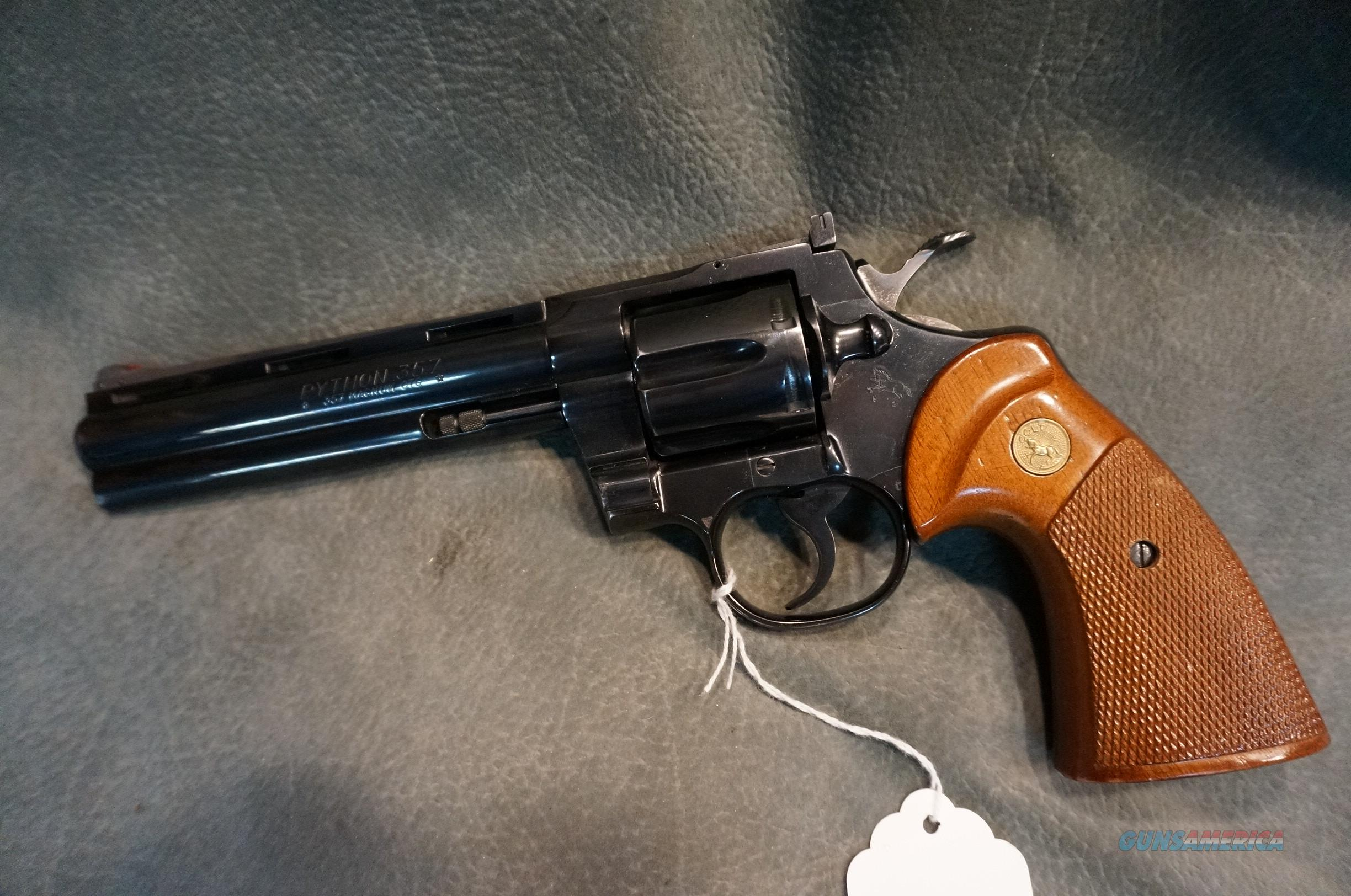 "Colt Python 357Mag 6"" made in 1978  Guns > Pistols > Colt Double Action Revolvers- Modern"