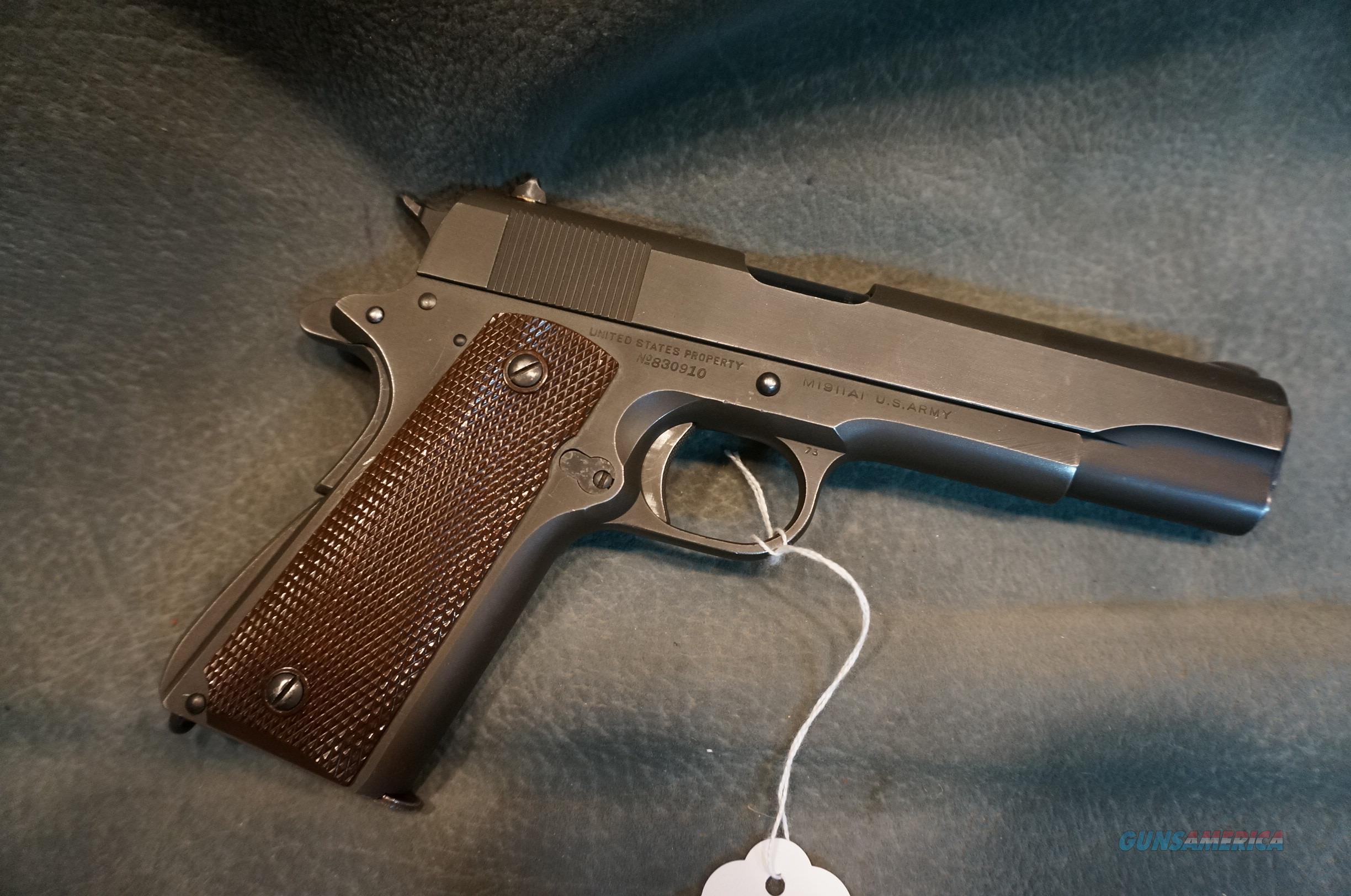 Colt 1911A1 45ACP made in 1942  Guns > Pistols > Military Misc. Pistols US > 1911 Pattern