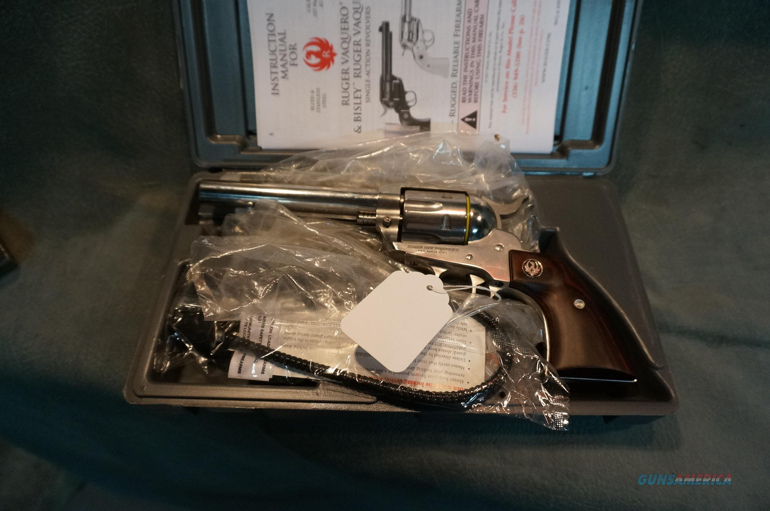 Ruger Stainless Vaquero 357Mag NIB  Guns > Pistols > Ruger Single Action Revolvers > Blackhawk Type