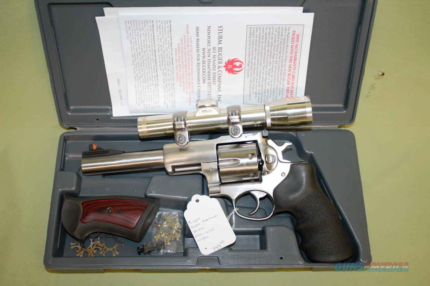 Ruger Super Redhawk 10mm   Guns > Pistols > Ruger Double Action Revolver > Redhawk Type