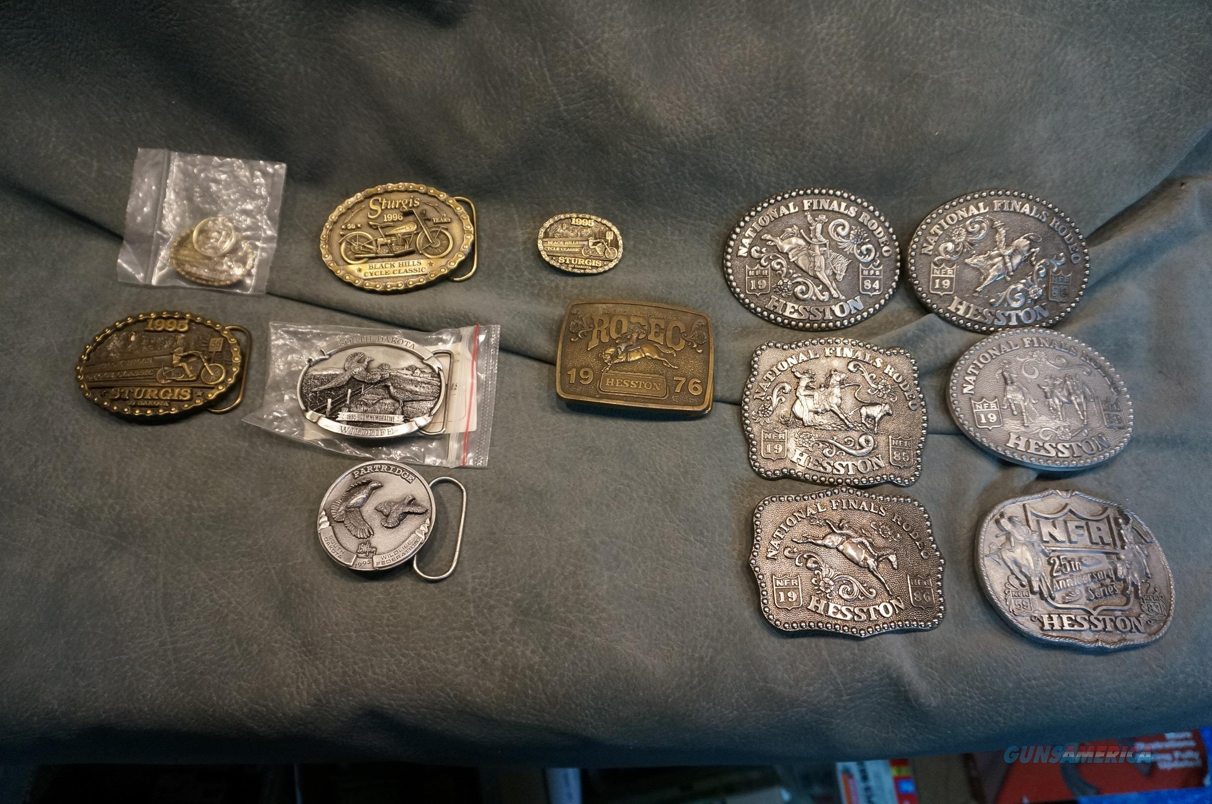Collectable Belt Buckles Hesston,Sturgis ect,11 for $125  Non-Guns > Miscellaneous