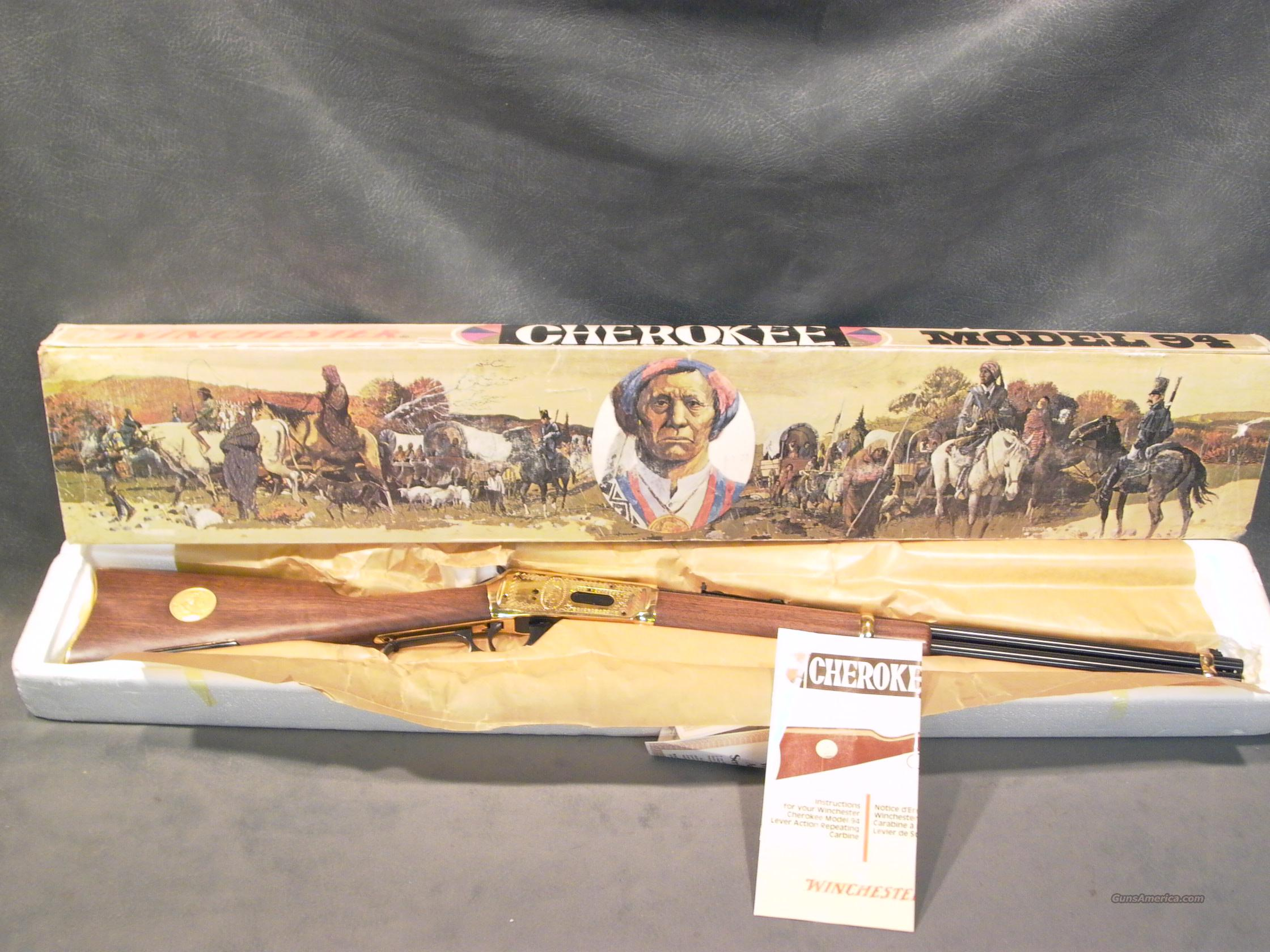 Winchester Model 94 Cherokee 30X30  Guns > Rifles > Winchester Rifle Commemoratives