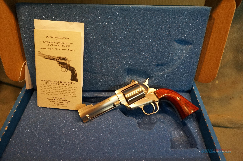 "Freedom Arms 97 Premier Grade 45LC 4 1/4"" AS NIB  Guns > Pistols > Freedom Arms Pistols"
