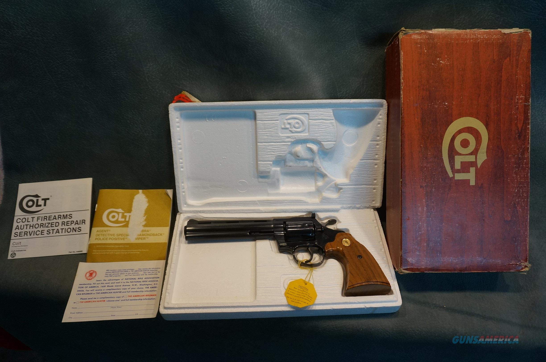 "Colt Diamondback 38Sp 6"" NIB  Guns > Pistols > Colt Double Action Revolvers- Modern"