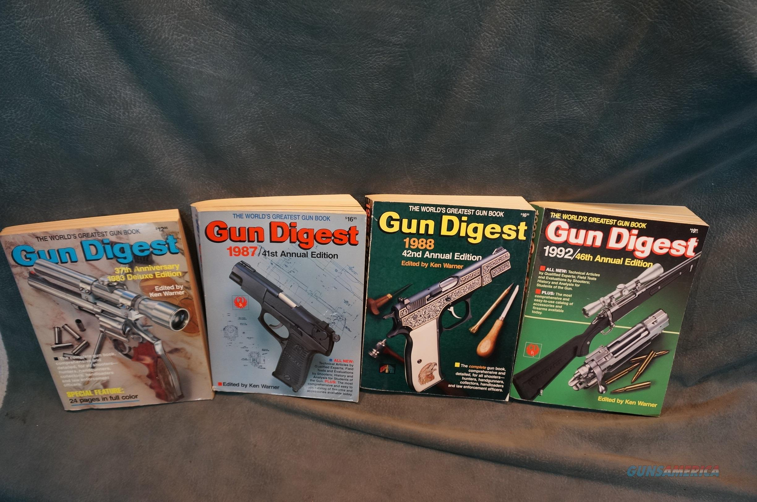 Gun Digests 1983,1987,1988 and 1992 all for $20!  Non-Guns > Books & Magazines