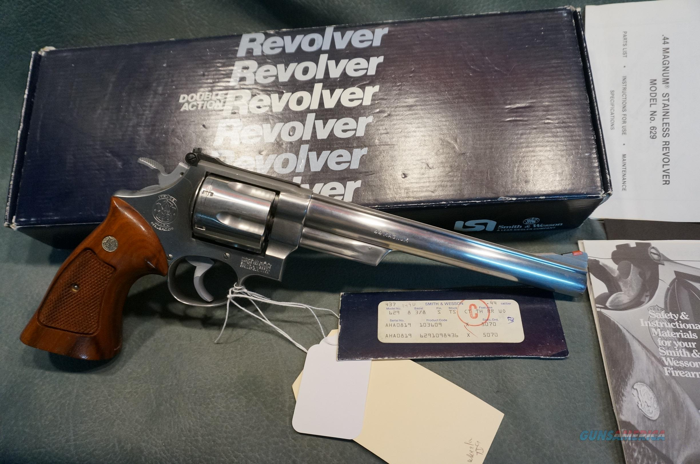"S+W 629-1 44Mag 8 3/8"" bbl  Guns > Pistols > Smith & Wesson Revolvers > Model 629"