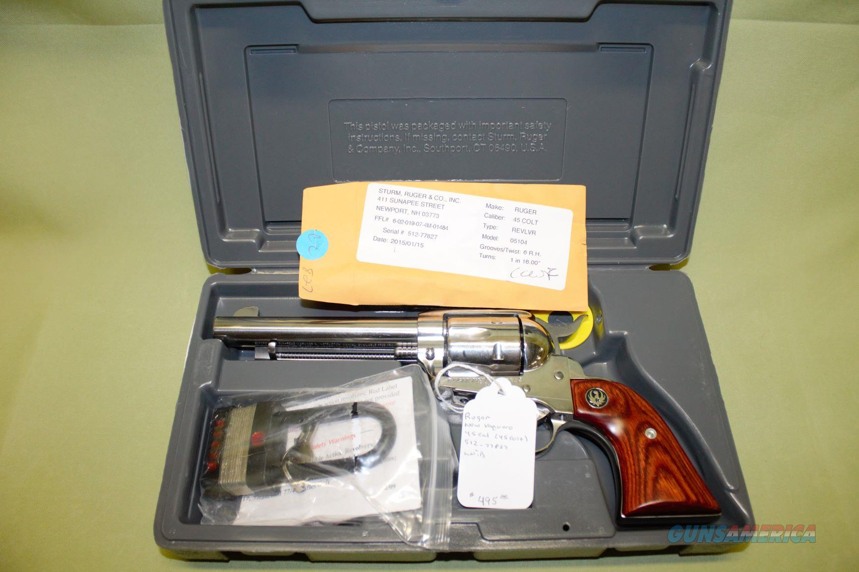 Ruger New Vaquero 45 Colt  Guns > Pistols > Ruger Single Action Revolvers > Cowboy Action