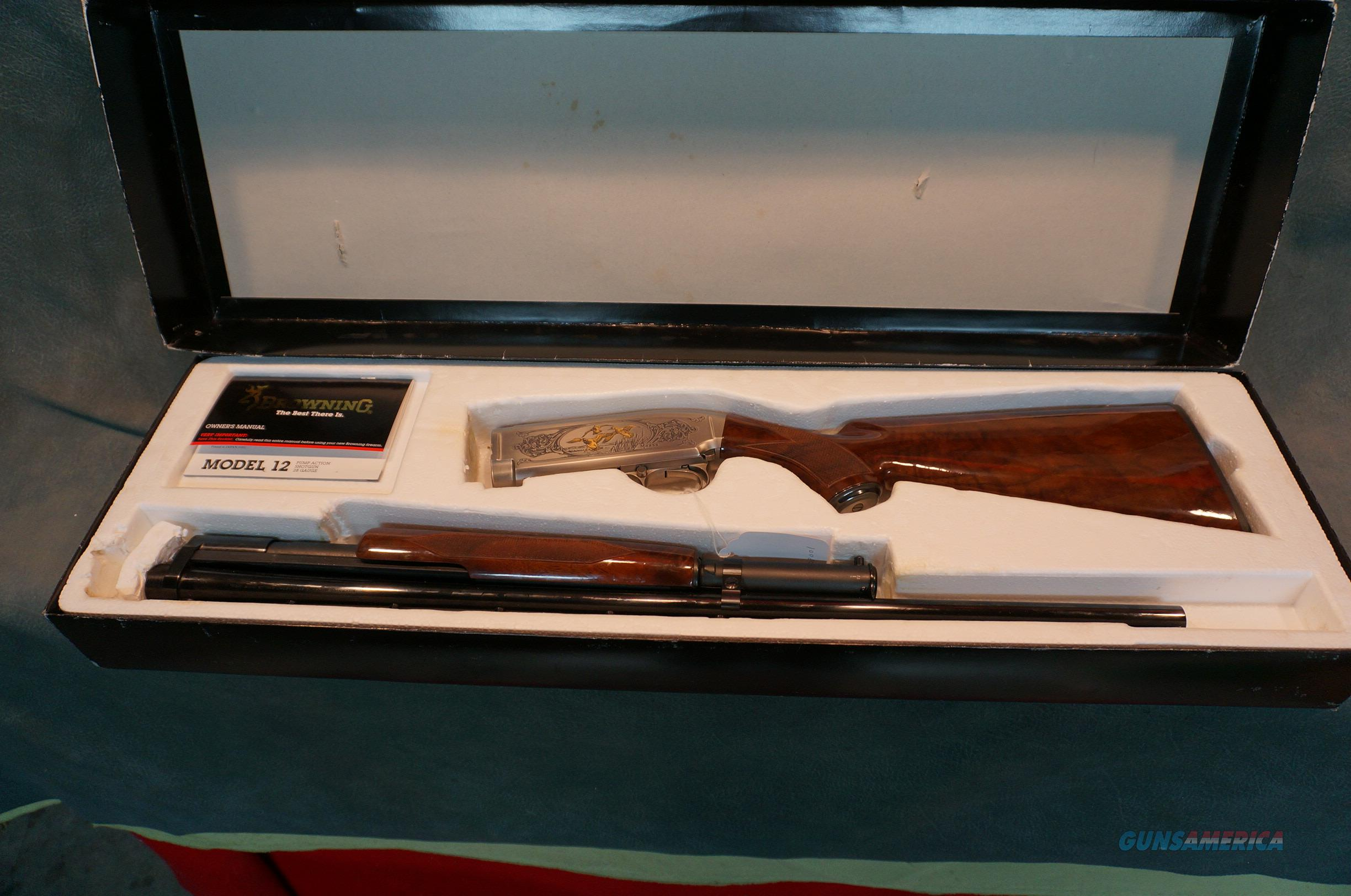 Browning Model 12 28Ga Ducks Unlimited High Grade NIB  Guns > Shotguns > Browning Shotguns > Pump Action > Hunting