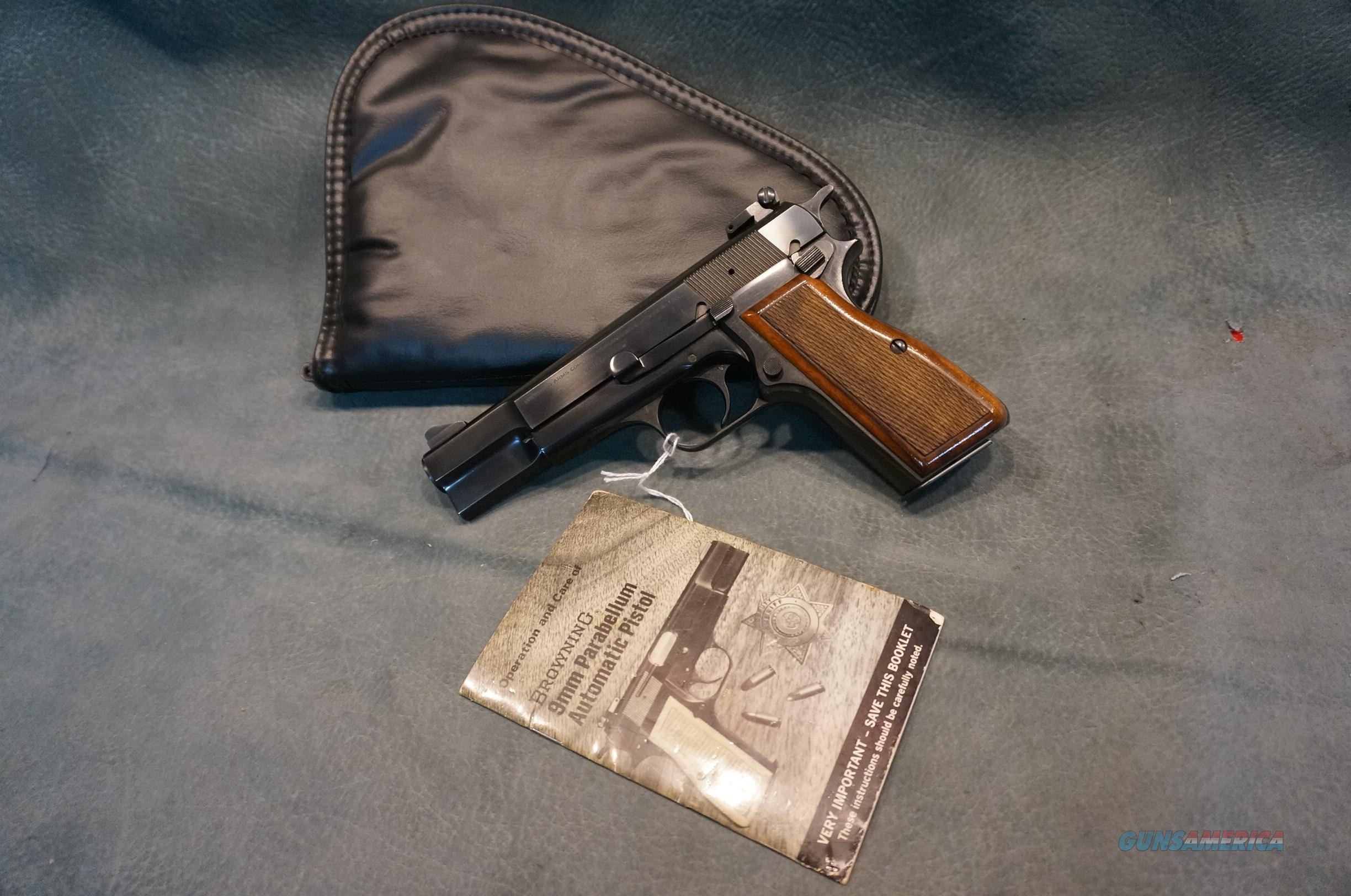 Belgium Browning Hi Power adjustable sights New in the Pouch!  Guns > Pistols > Browning Pistols > Hi Power