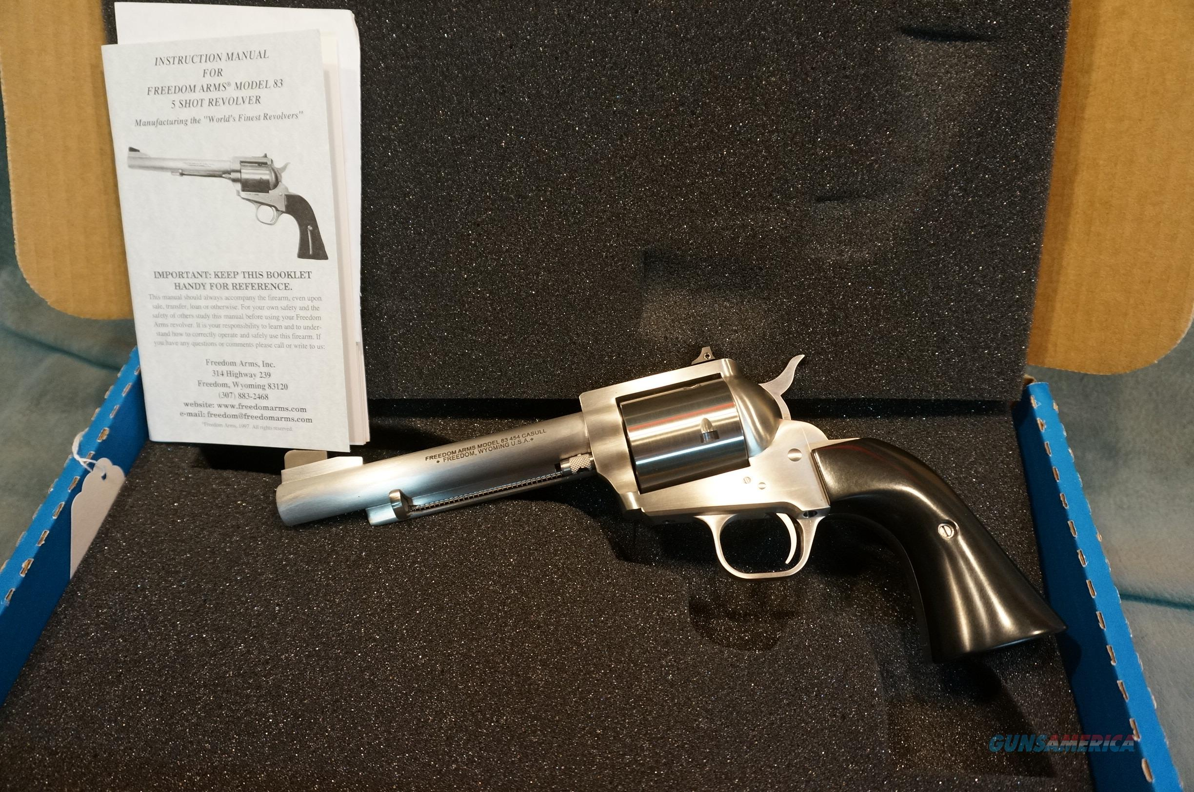 Freedom Arms Model 83 454 Casull Premier Grade  Guns > Pistols > Freedom Arms Pistols