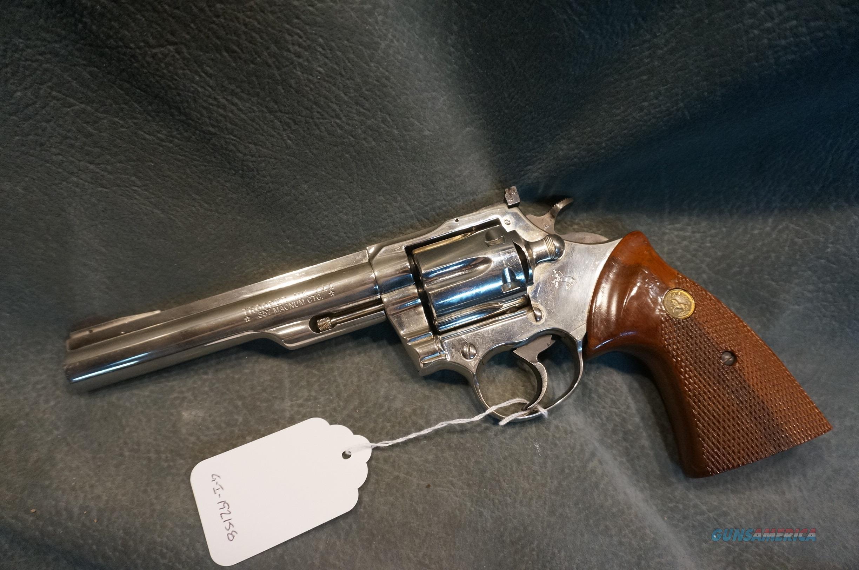 "Colt Trooper 357Mag 6"" barrel,nickel   Guns > Pistols > Colt Double Action Revolvers- Modern"