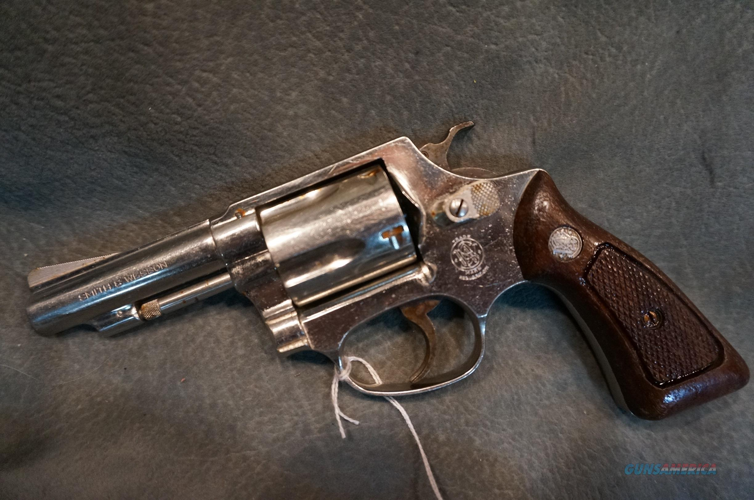 S+W M36 38Sp nickel  Guns > Pistols > Smith & Wesson Revolvers > Small Frame ( J )