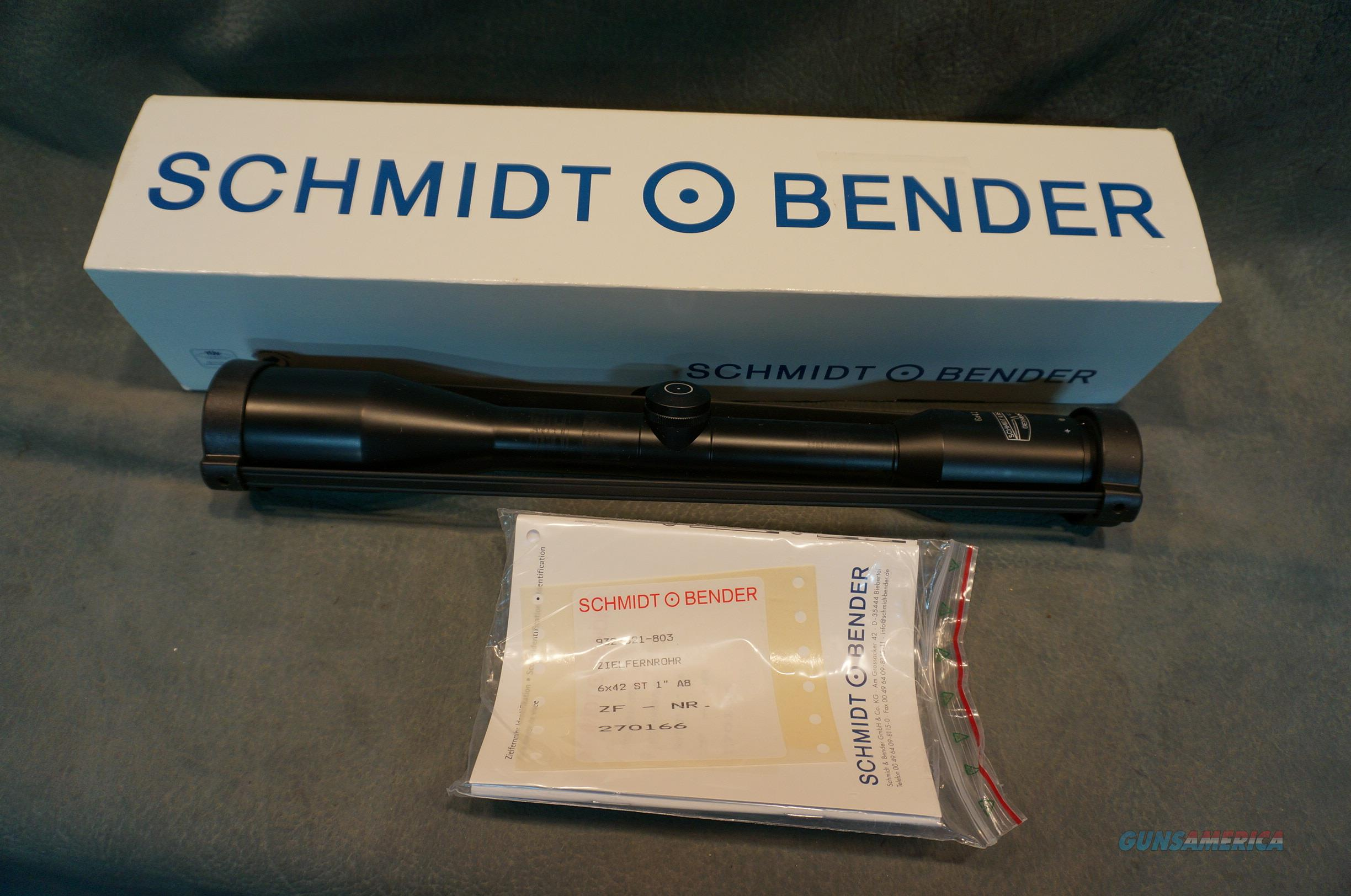 Schmidt and Bender 6x42 A8 duplex  Non-Guns > Scopes/Mounts/Rings & Optics > Rifle Scopes > Fixed Focal Length