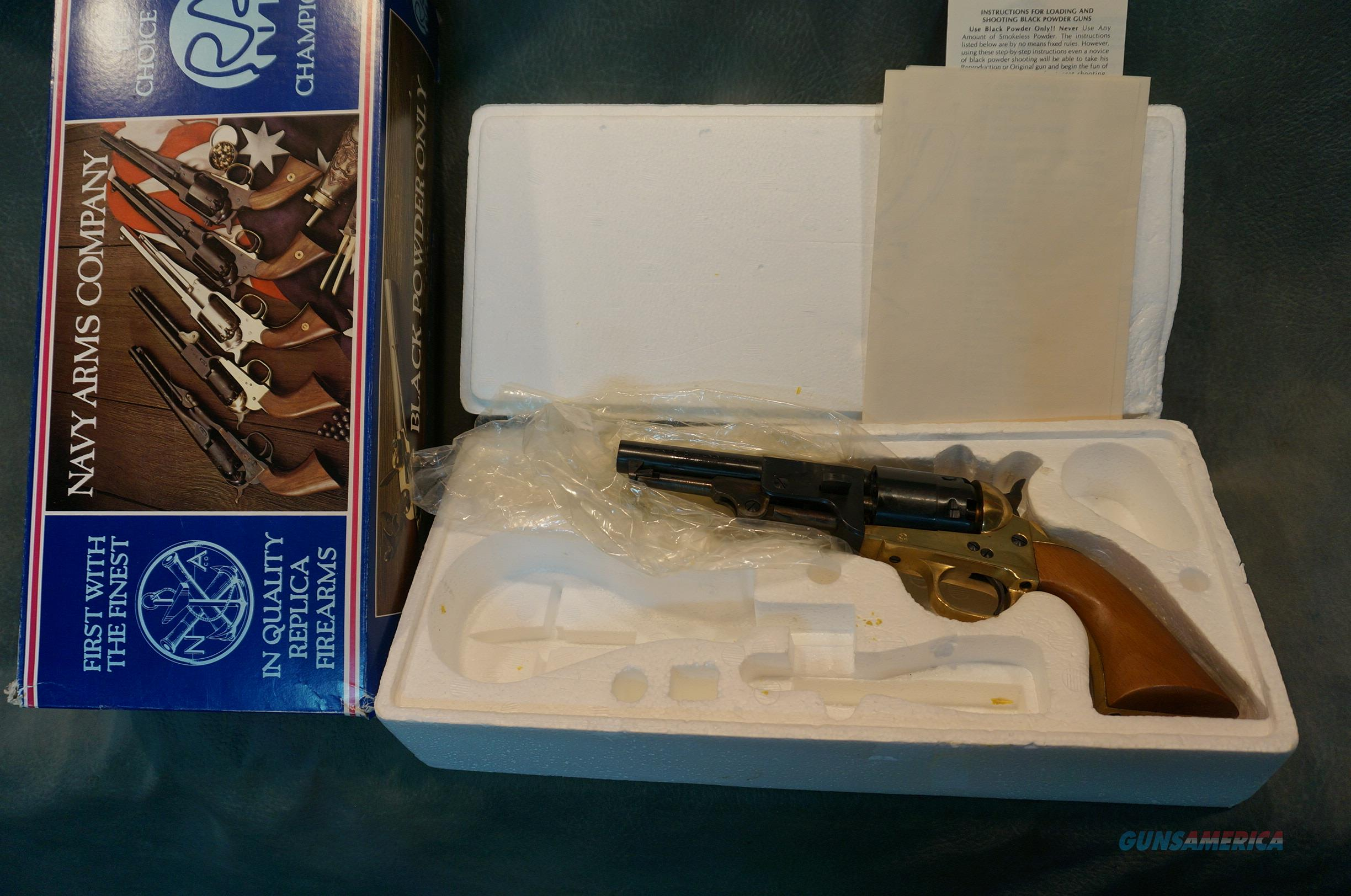 Navy Arms 1860 Sheriff 44 Blackpowder NIB  Guns > Pistols > Navy Arms Pistols