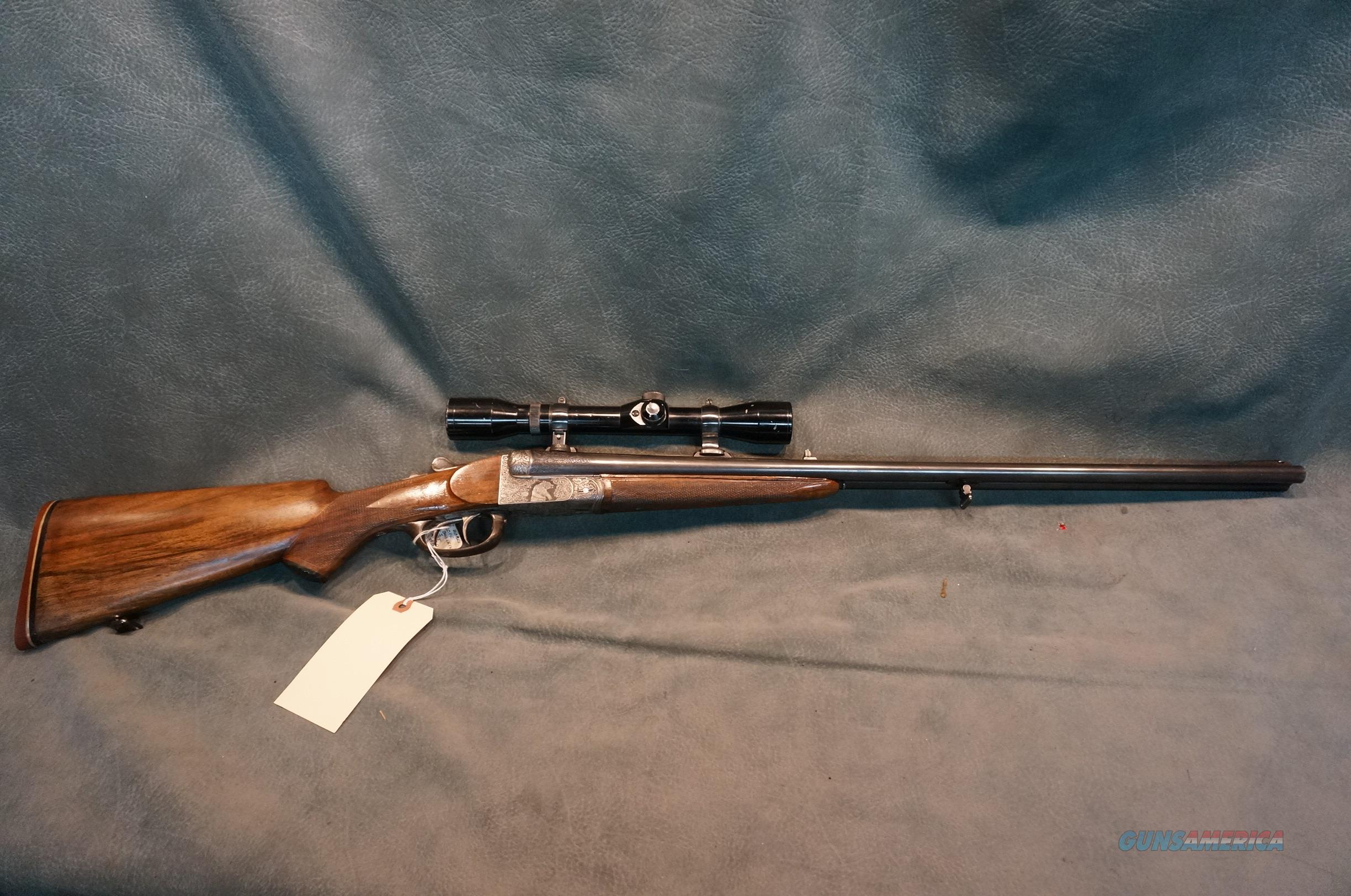 Belgium Side by Side Double Rifle 450 Alaskan w/ammo and dies  Guns > Rifles > Double Rifles (Misc.)