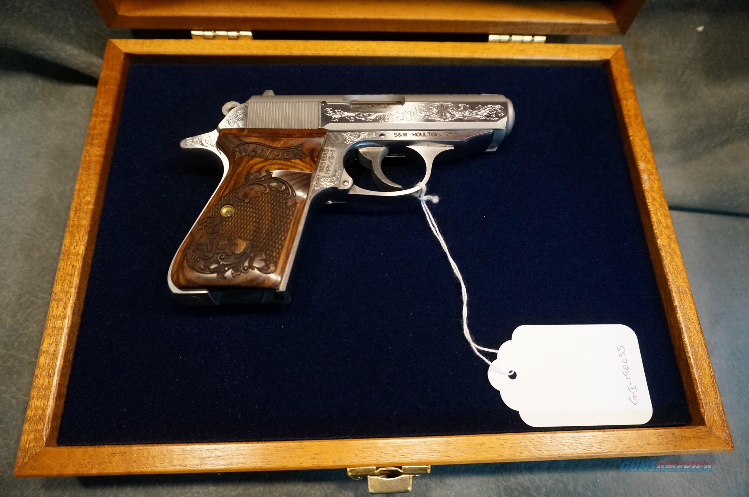 Walther PPK/S 380ACP Factory Engraved w/case  Guns > Pistols > Walther Pistols > Post WWII > PPK Series