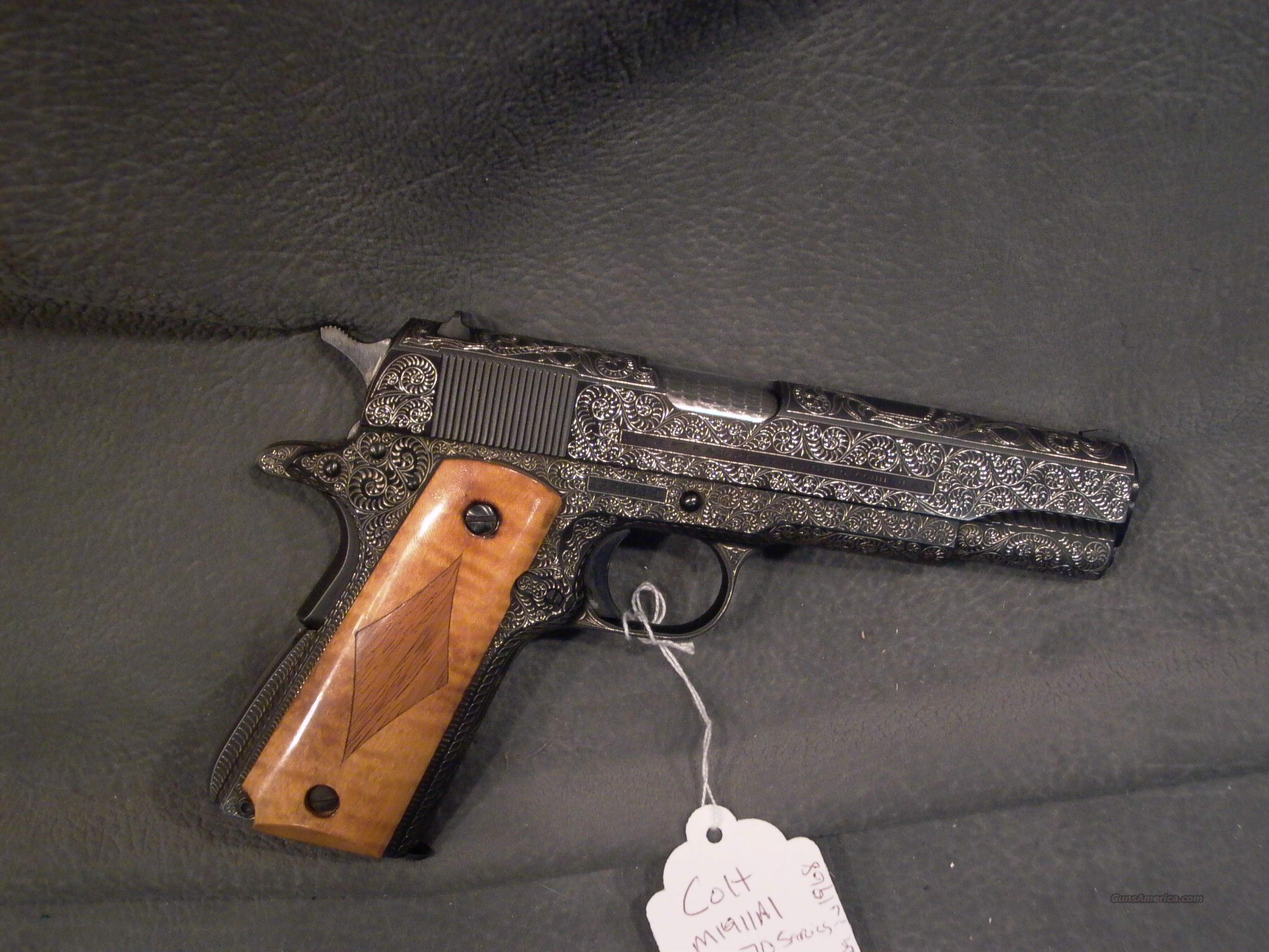 colt m1911a1 custom engraved for sale
