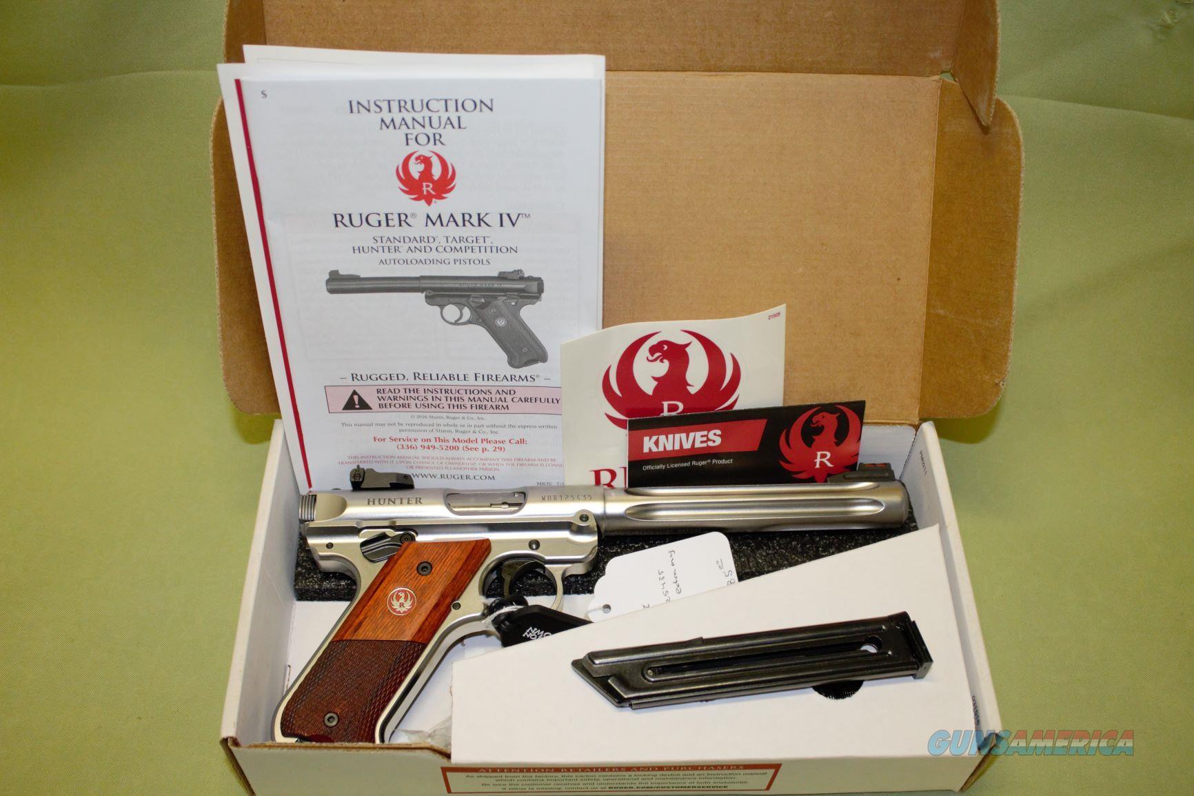 Ruger Mark IV Hunter 22 LR  Guns > Pistols > Ruger Semi-Auto Pistols > Mark I/II/III/IV Family