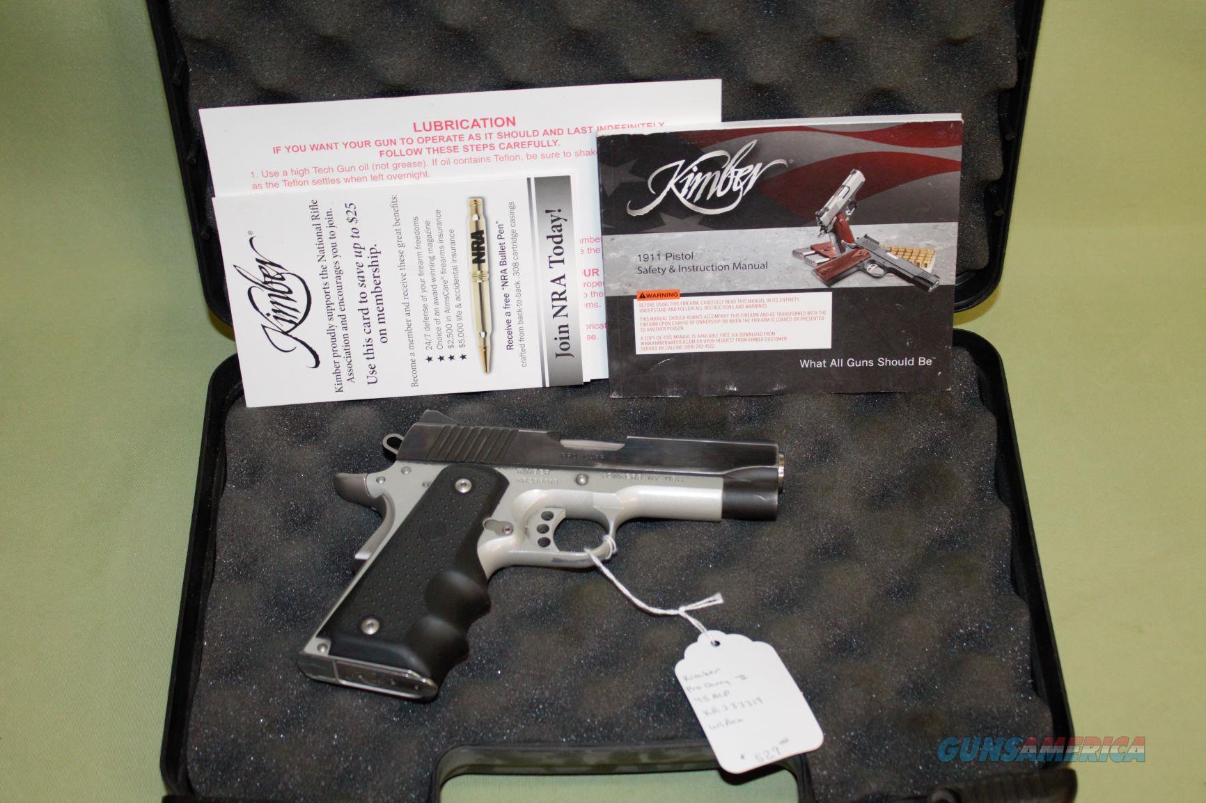 Kimber Pro Carry II 45 ACP  Guns > Pistols > Kimber of America Pistols > 1911