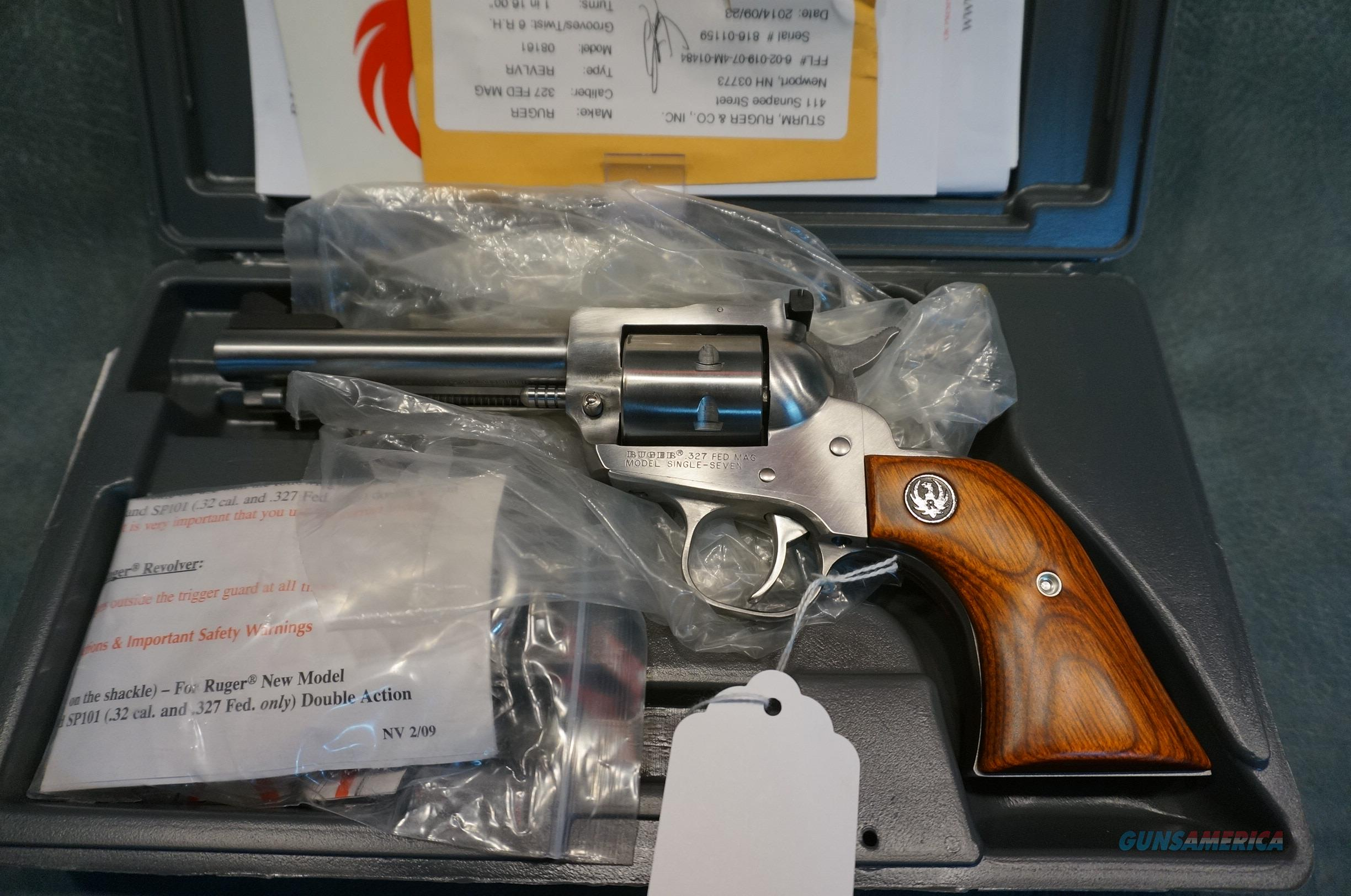 """Ruger Single Seven 327Federal 4 5/8"""" stainless NIB  Guns > Pistols > Ruger Single Action Revolvers > Single Six Type"""