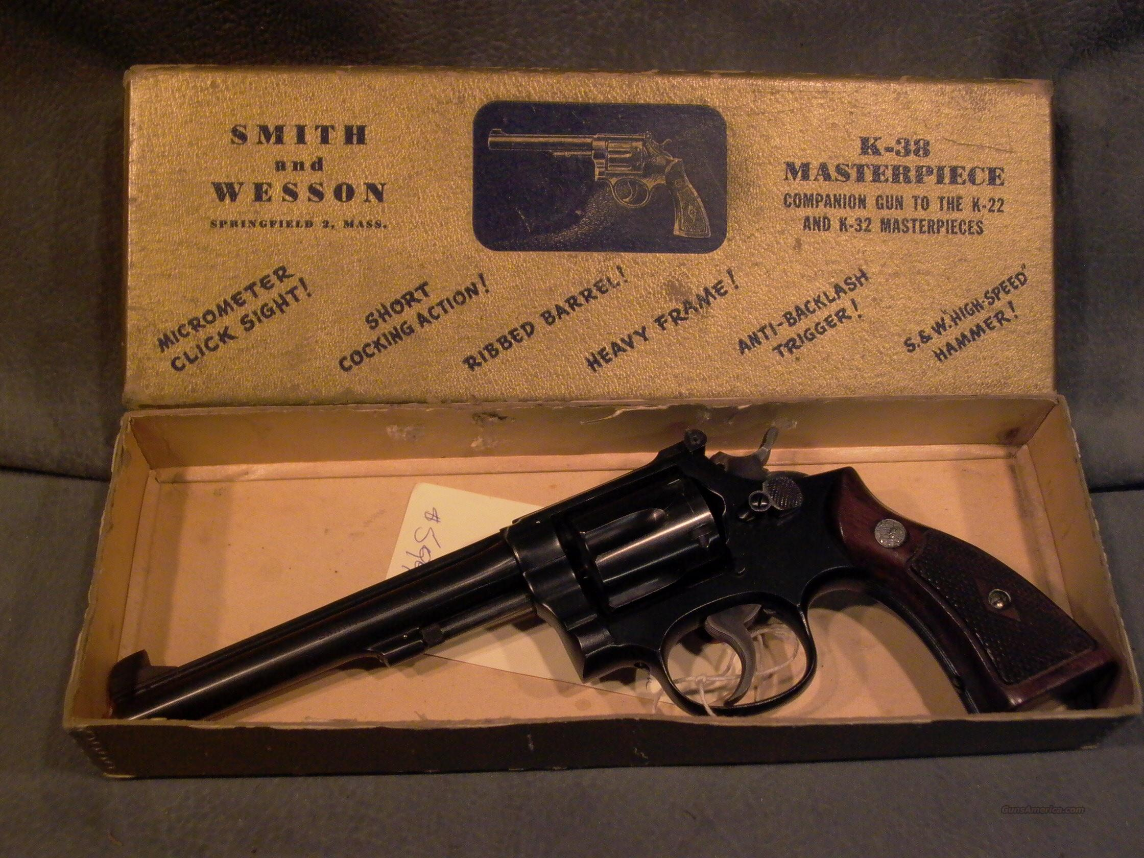 "S+W K38 5 Screw 38Sp 6""  Guns > Pistols > Smith & Wesson Revolvers > Model 10"