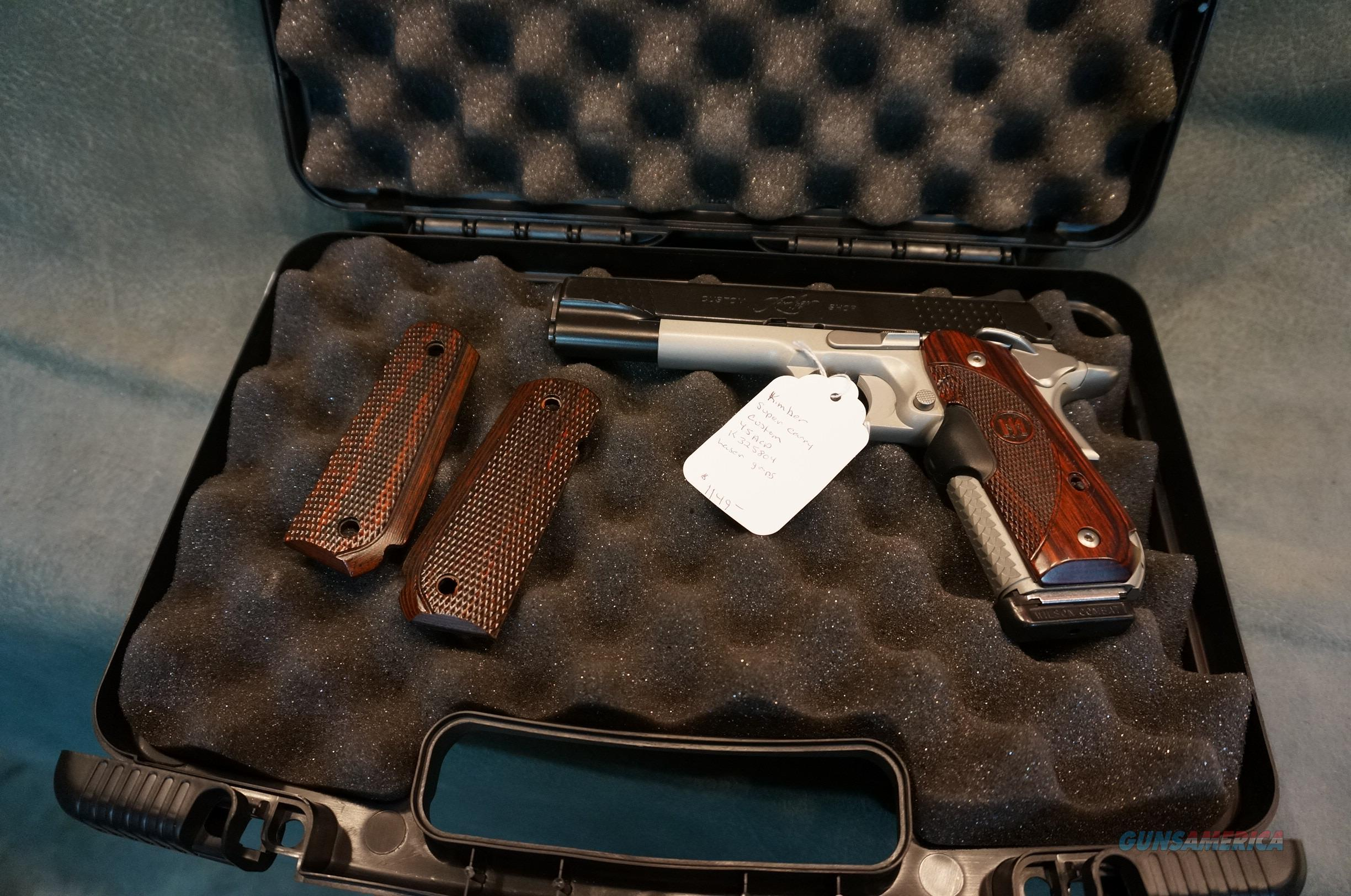 Kimber Super Carry Custom 45ACP W/Laser grips  Guns > Pistols > Kimber of America Pistols > 1911