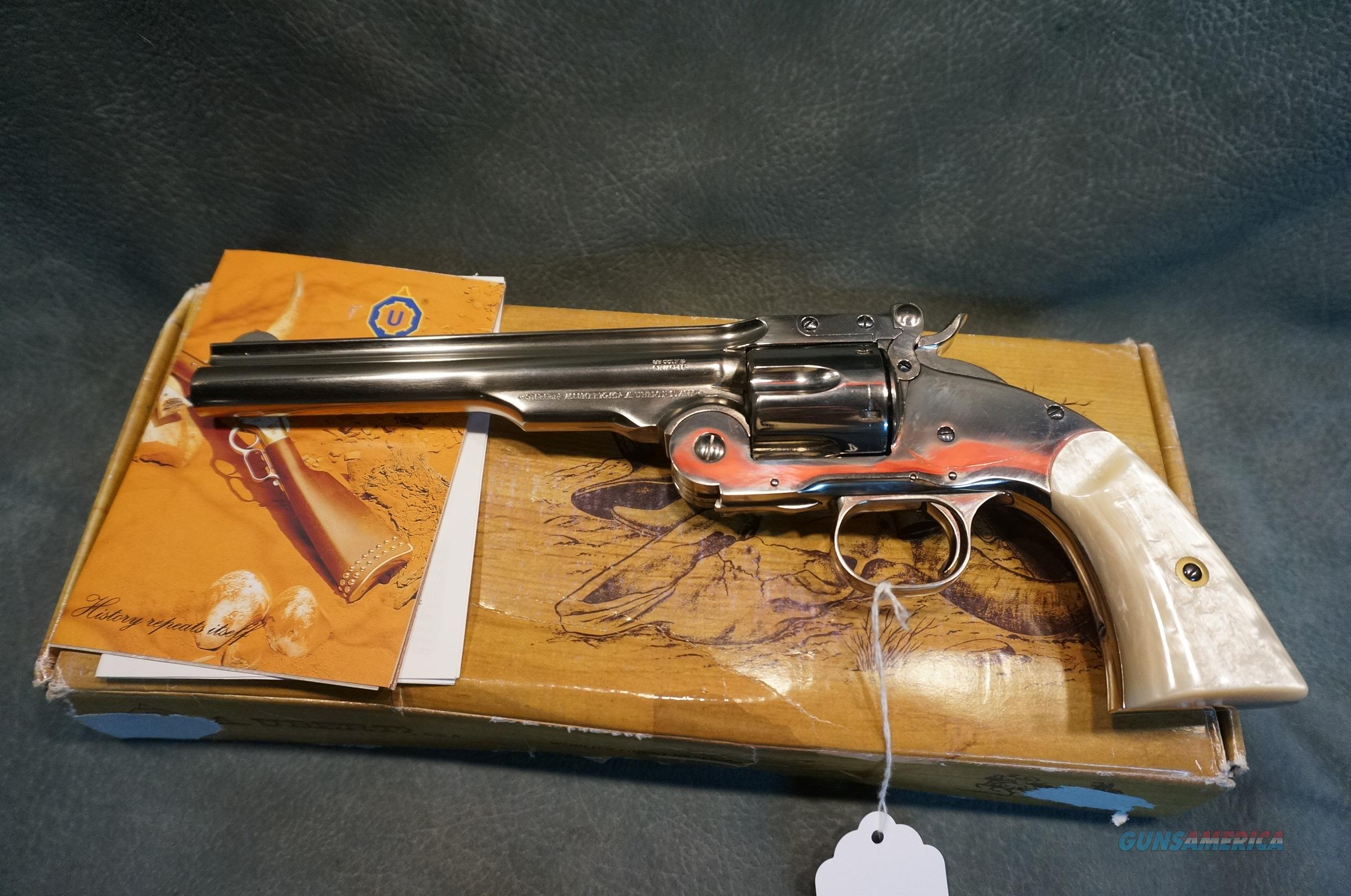 Uberti 1875 2nd Model Top Break Nickel/Pearl  LNIB  Guns > Pistols > Uberti Pistols > Ctg.