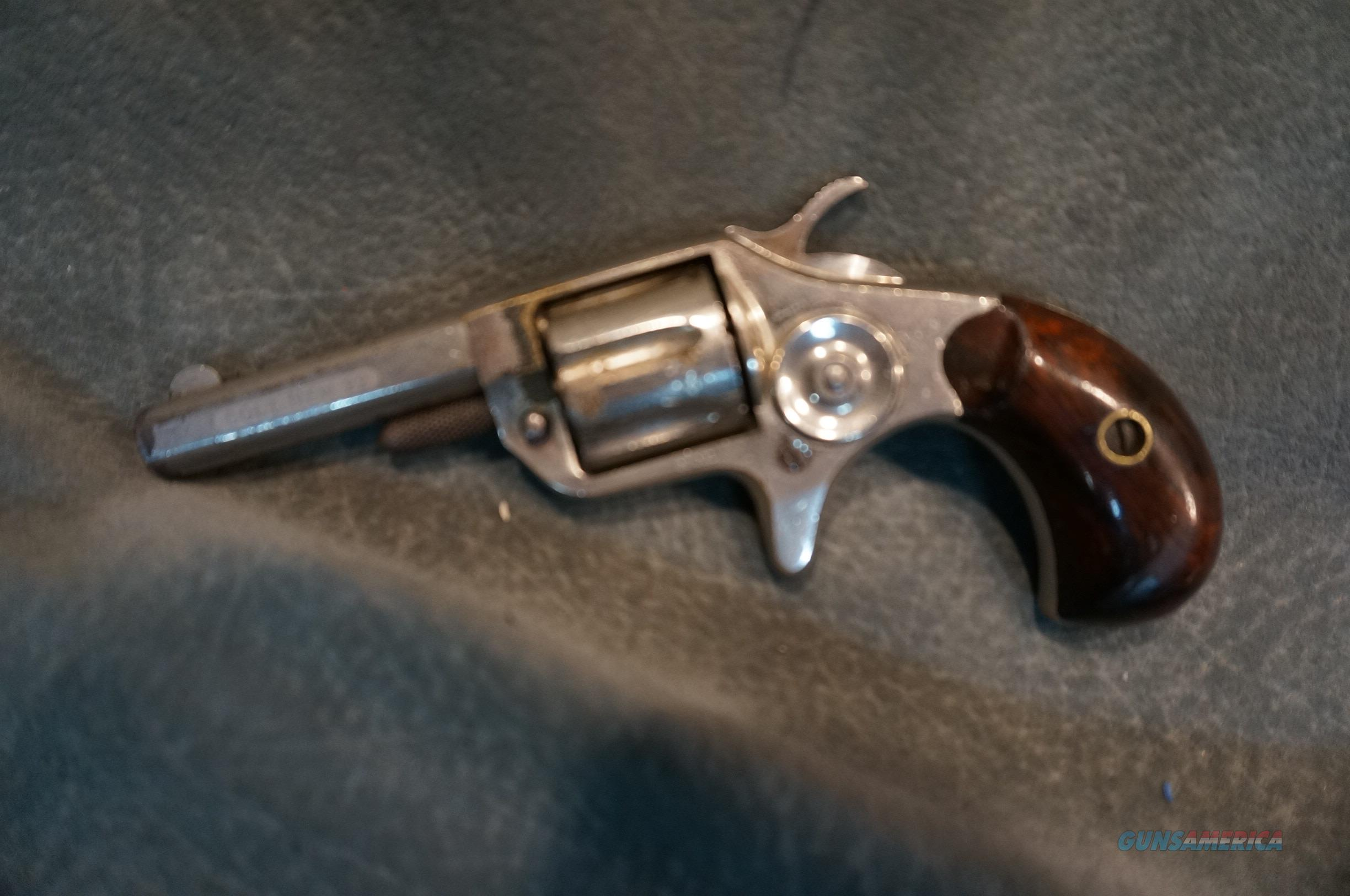 Antique New Line 22 2nd Model nickel etched barrel  Guns > Pistols > Colt Single Action Revolvers - Modern (22 Cal.)