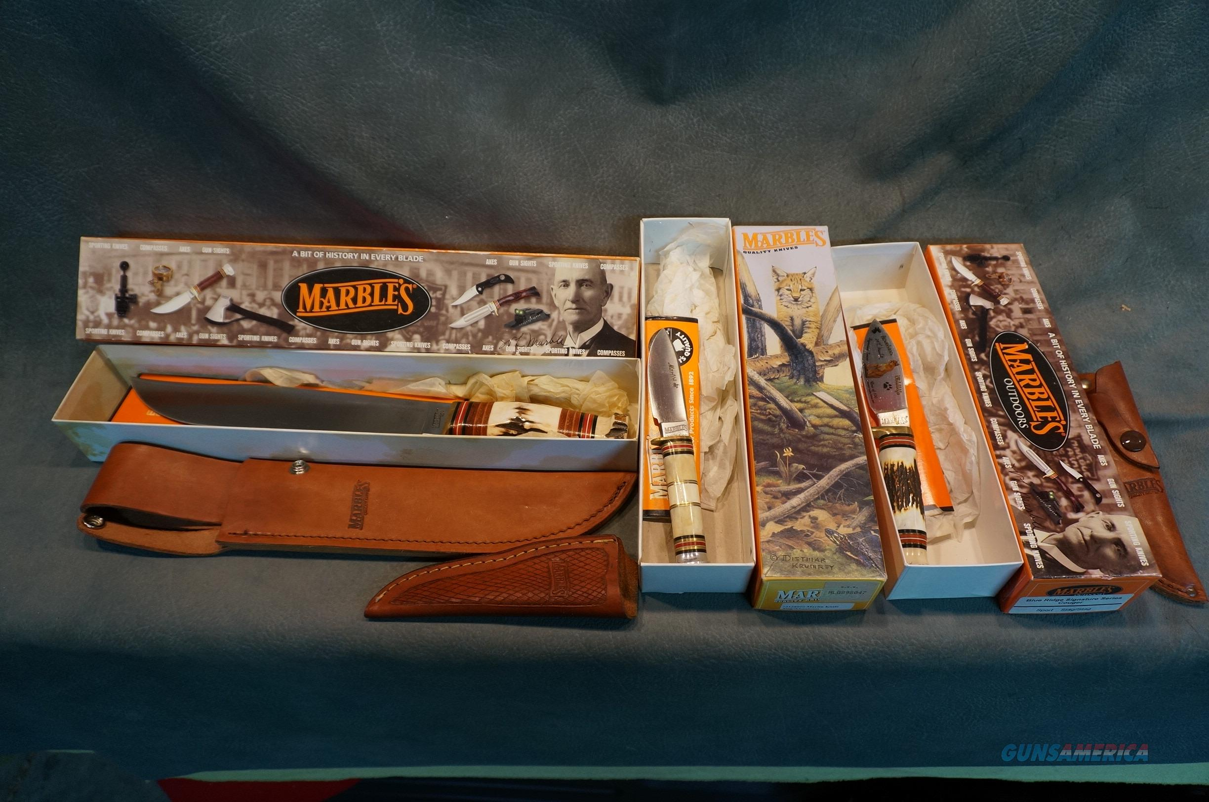 New in the box Old Stock Marbles Knives ON SALE!!  Non-Guns > Knives/Swords > Knives > Fixed Blade > Hand Made