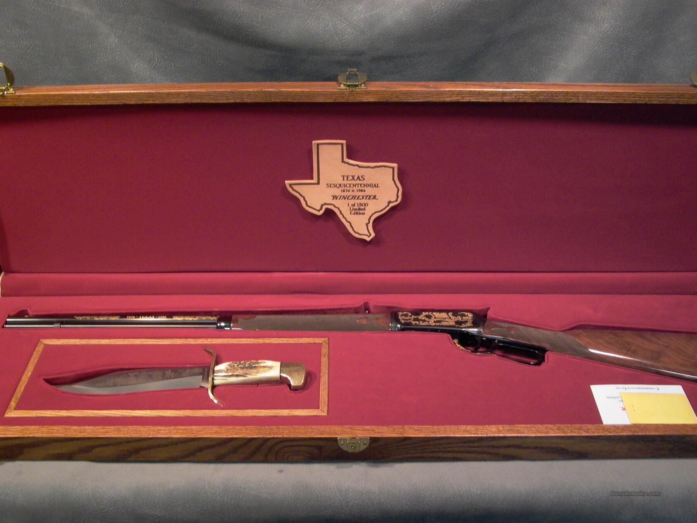Texas Sesquicentennial Rifle/Carbine Set  Guns > Rifles > Winchester Rifle Commemoratives