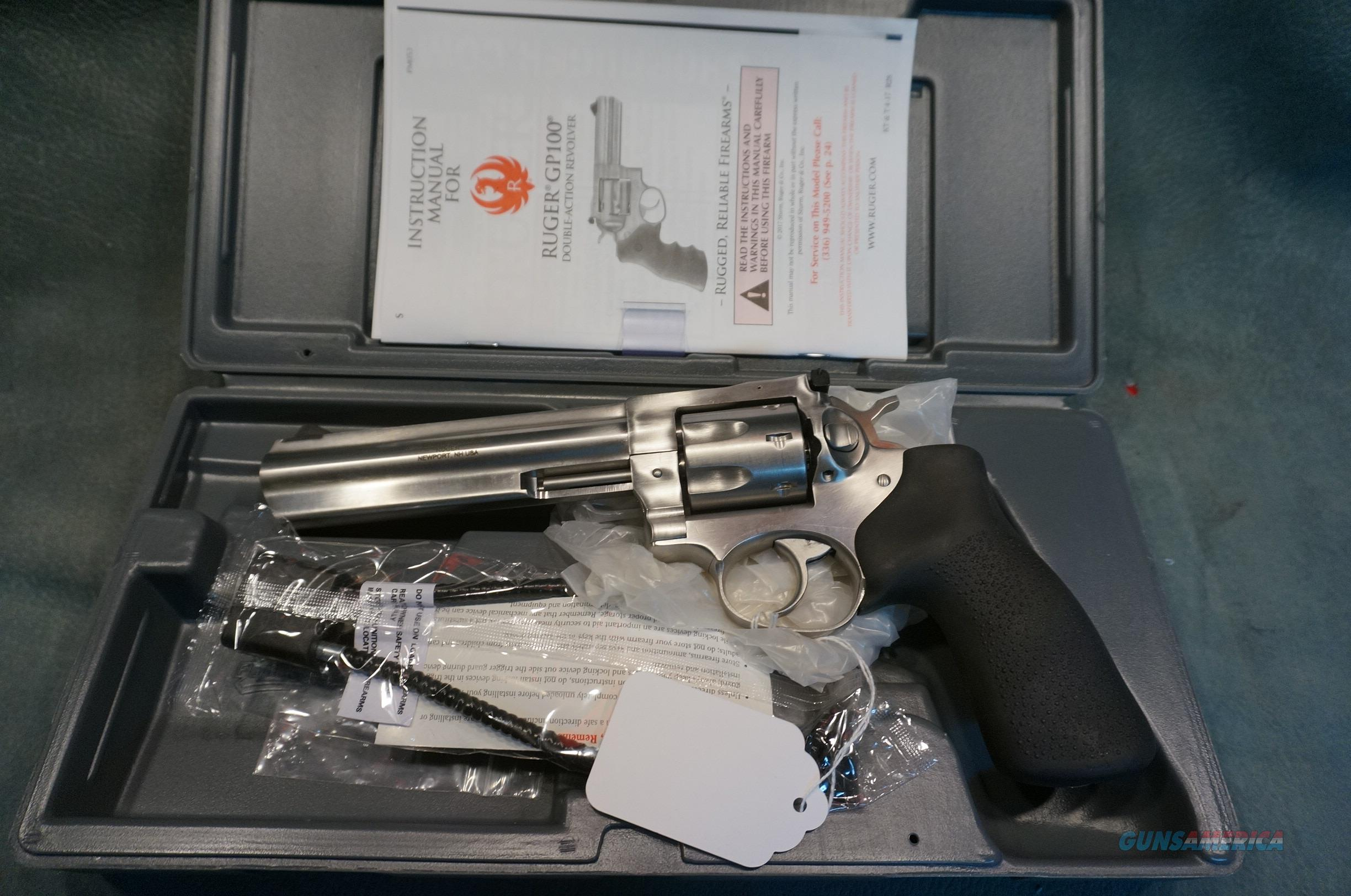 """Ruger GP100 327 Federal 6"""" stainless NIB  Guns > Pistols > Ruger Double Action Revolver > GP100"""