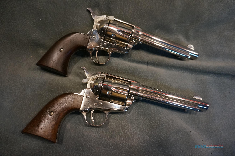 "Colt SAA 2nd Generation 357Mag 5 1/2"" nickel consecutive  Guns > Pistols > Colt Single Action Revolvers - 2nd Gen."