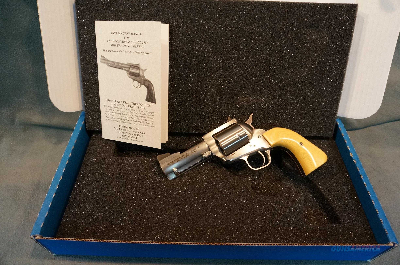 "Freedom Arms 1997 44Sp 3 1/2"" bbl round butt grip NIB  Guns > Pistols > Freedom Arms Pistols"